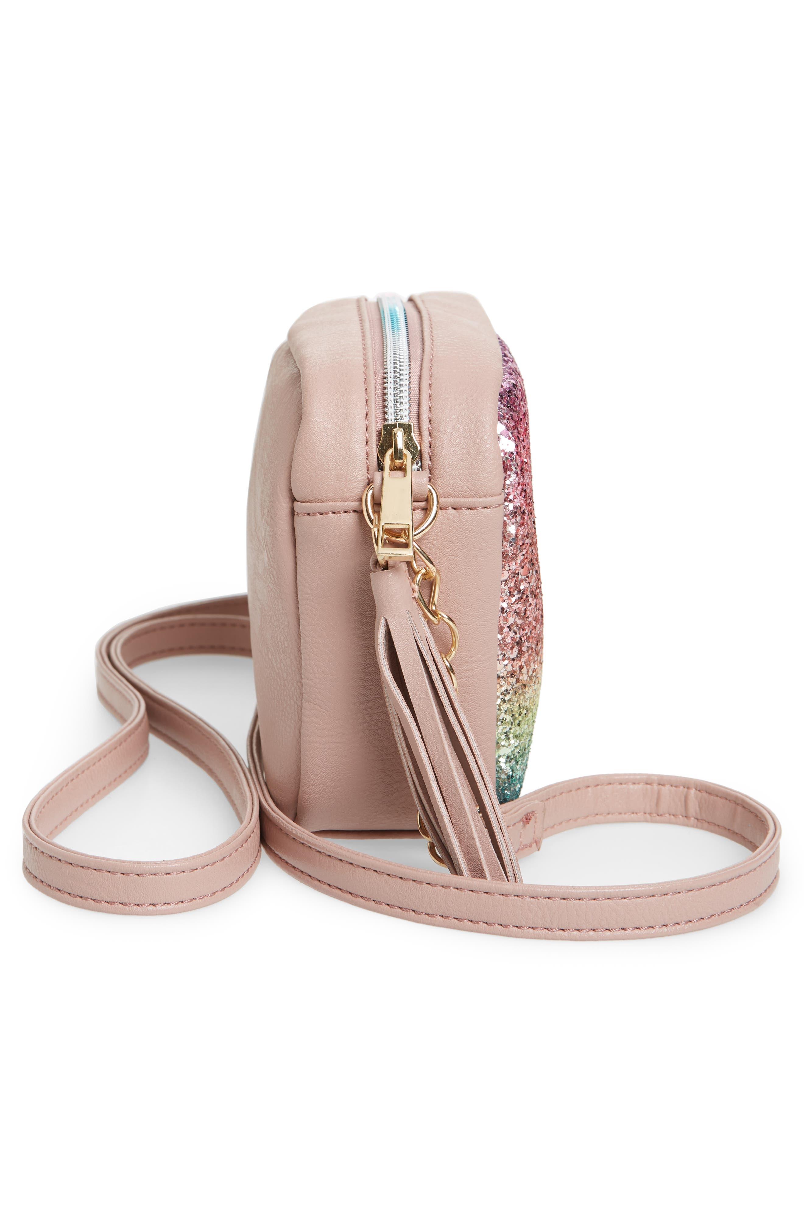 Glitter Crossbody Bag,                             Alternate thumbnail 4, color,                             650