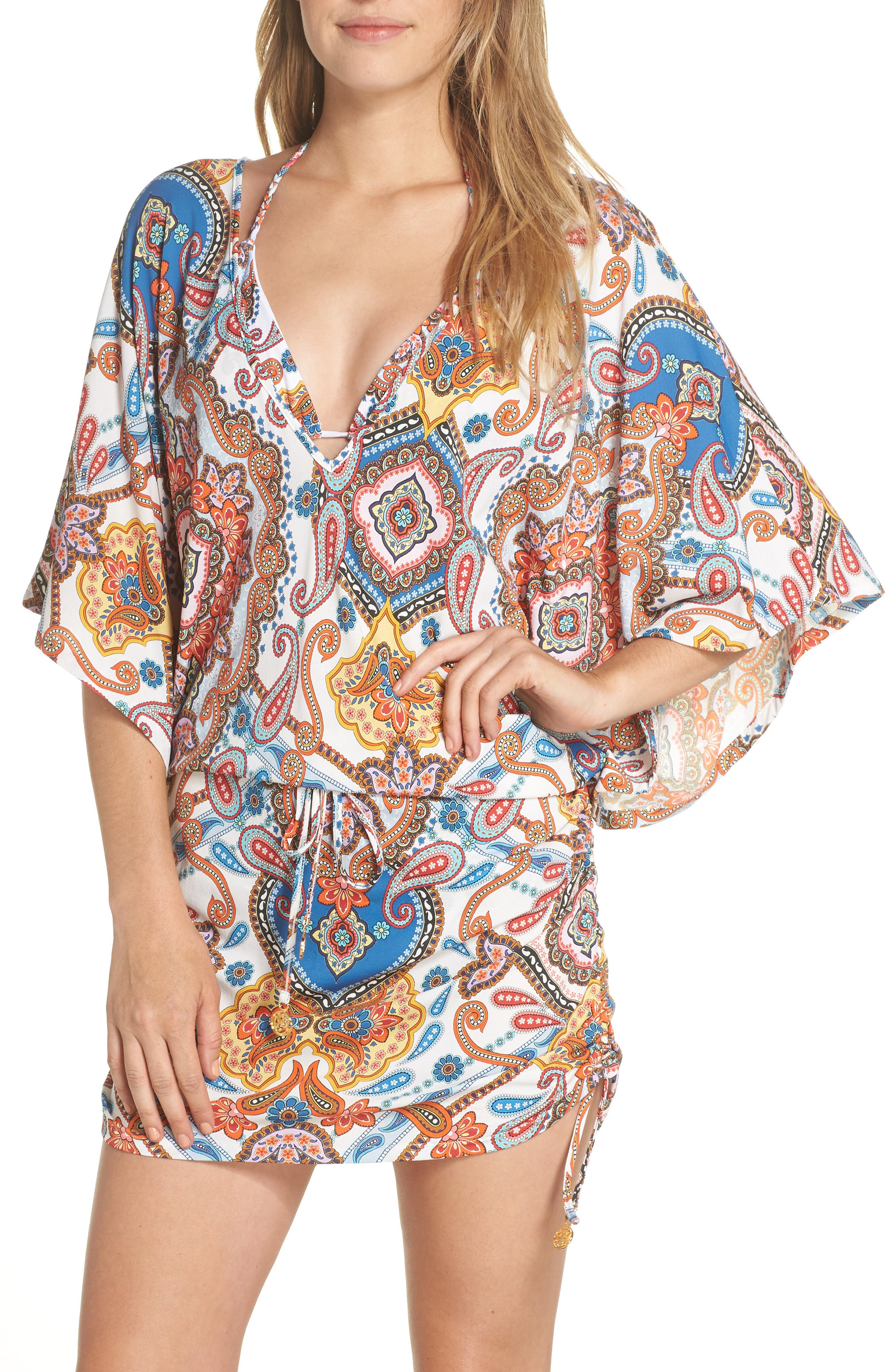 Cabana Cover-Up Dress,                         Main,                         color, WHITE