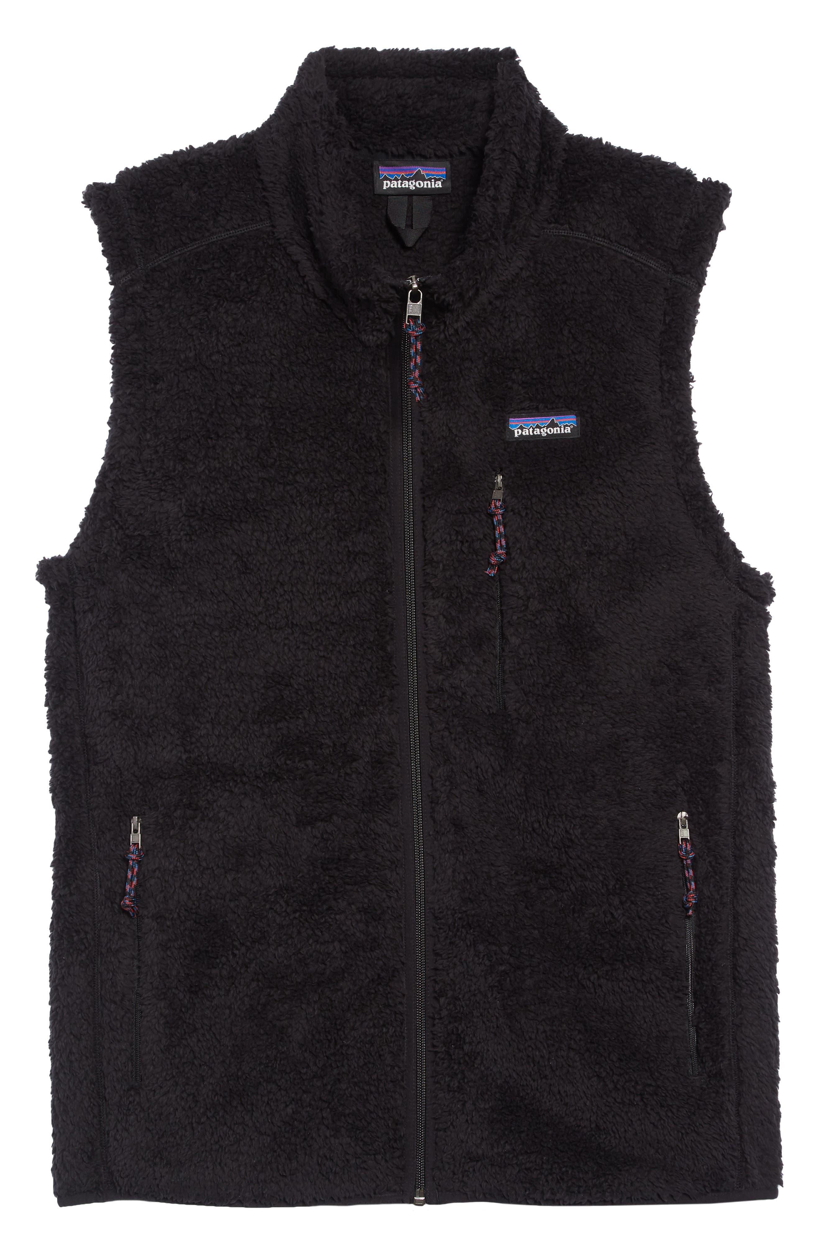 Los Gatos Fleece Vest,                             Alternate thumbnail 6, color,                             BLACK