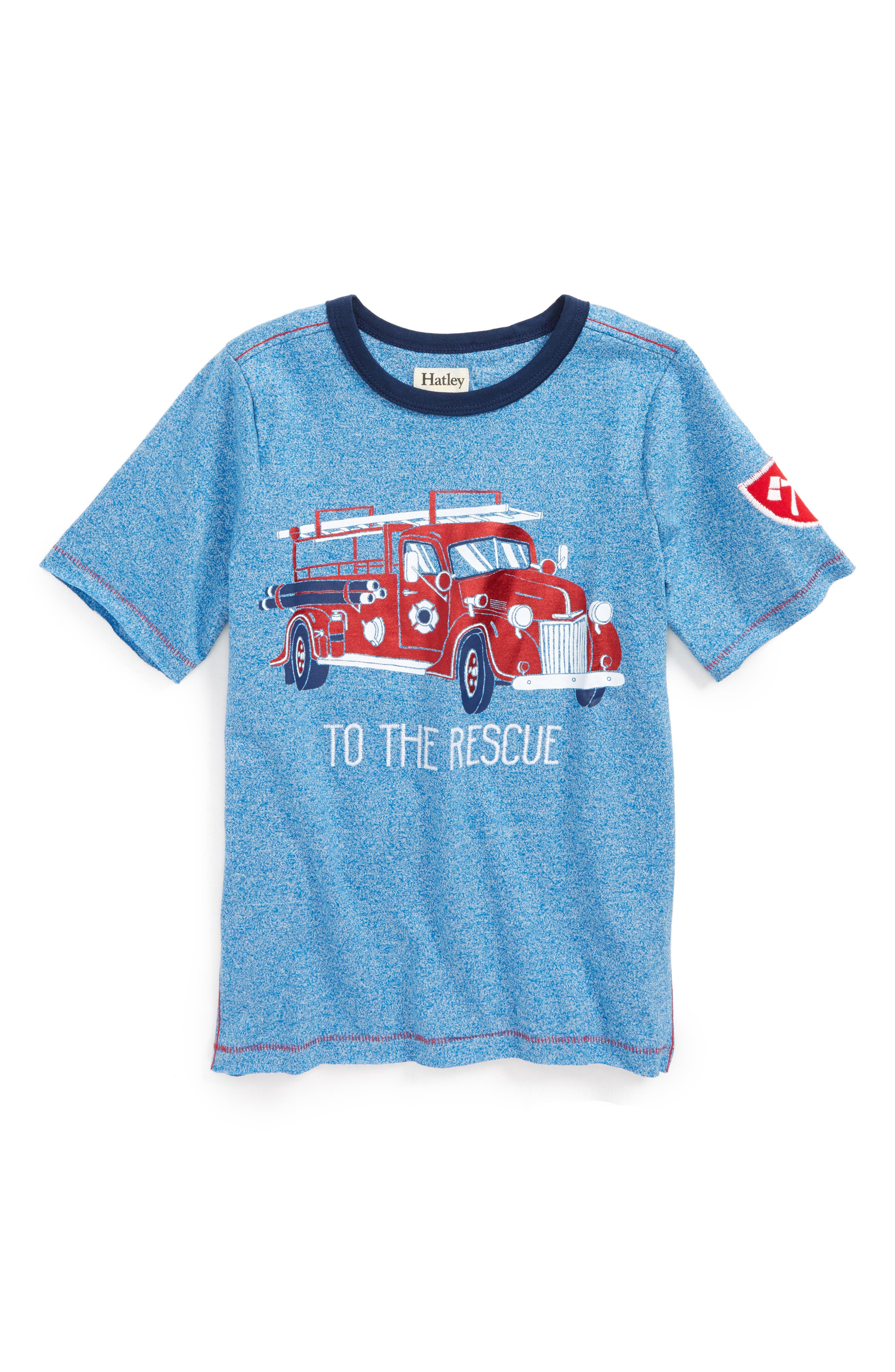 To the Rescue Fire Truck T-Shirt,                             Main thumbnail 1, color,