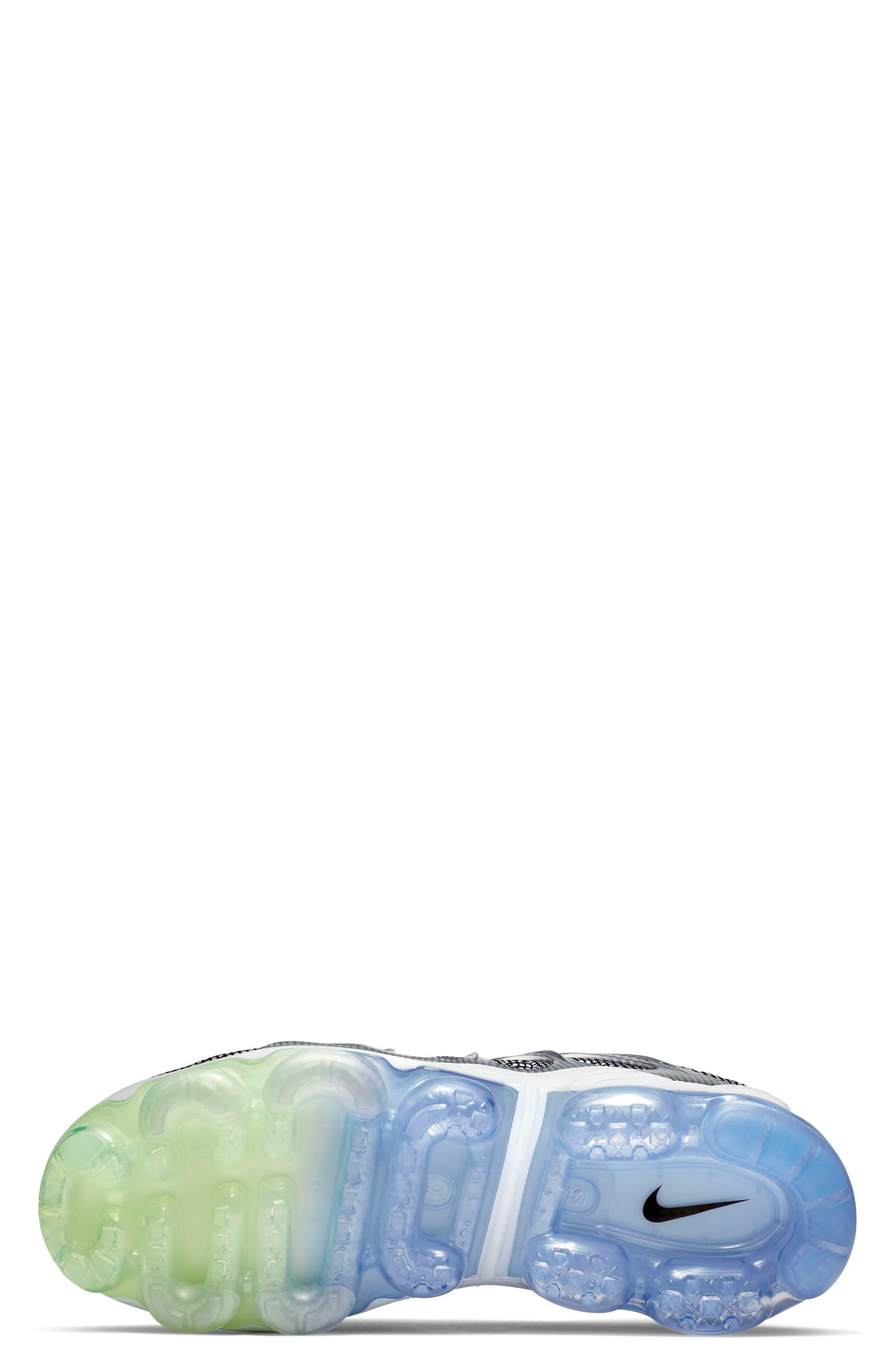 Air VaporMax Plus Sneaker,                             Alternate thumbnail 5, color,                             WHITE/ BLACK/ ALUMINUM/ VOLT