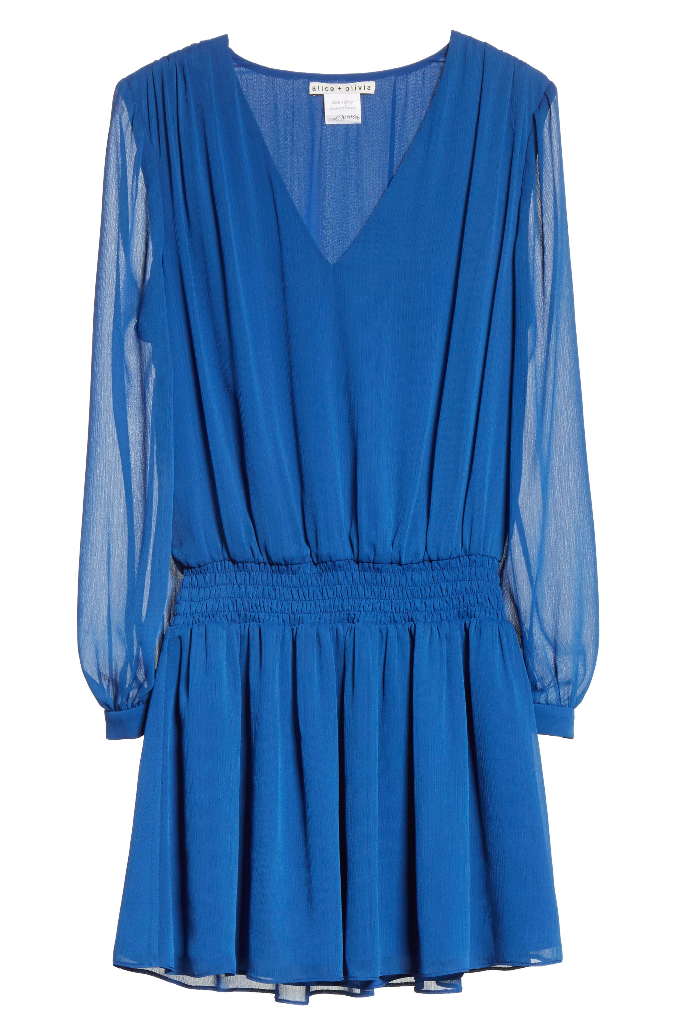 Adaline Smocked Waist Minidress,                             Alternate thumbnail 6, color,                             400