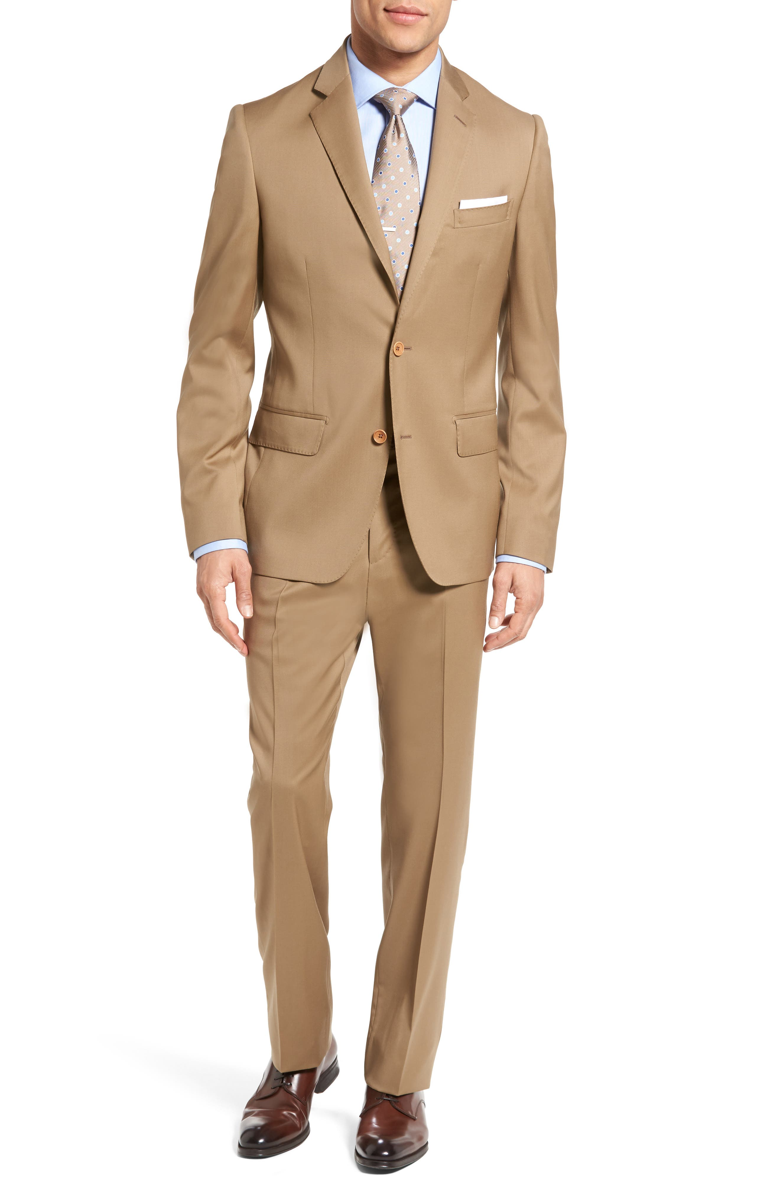 Classic Fit Solid Wool Suit,                             Main thumbnail 4, color,
