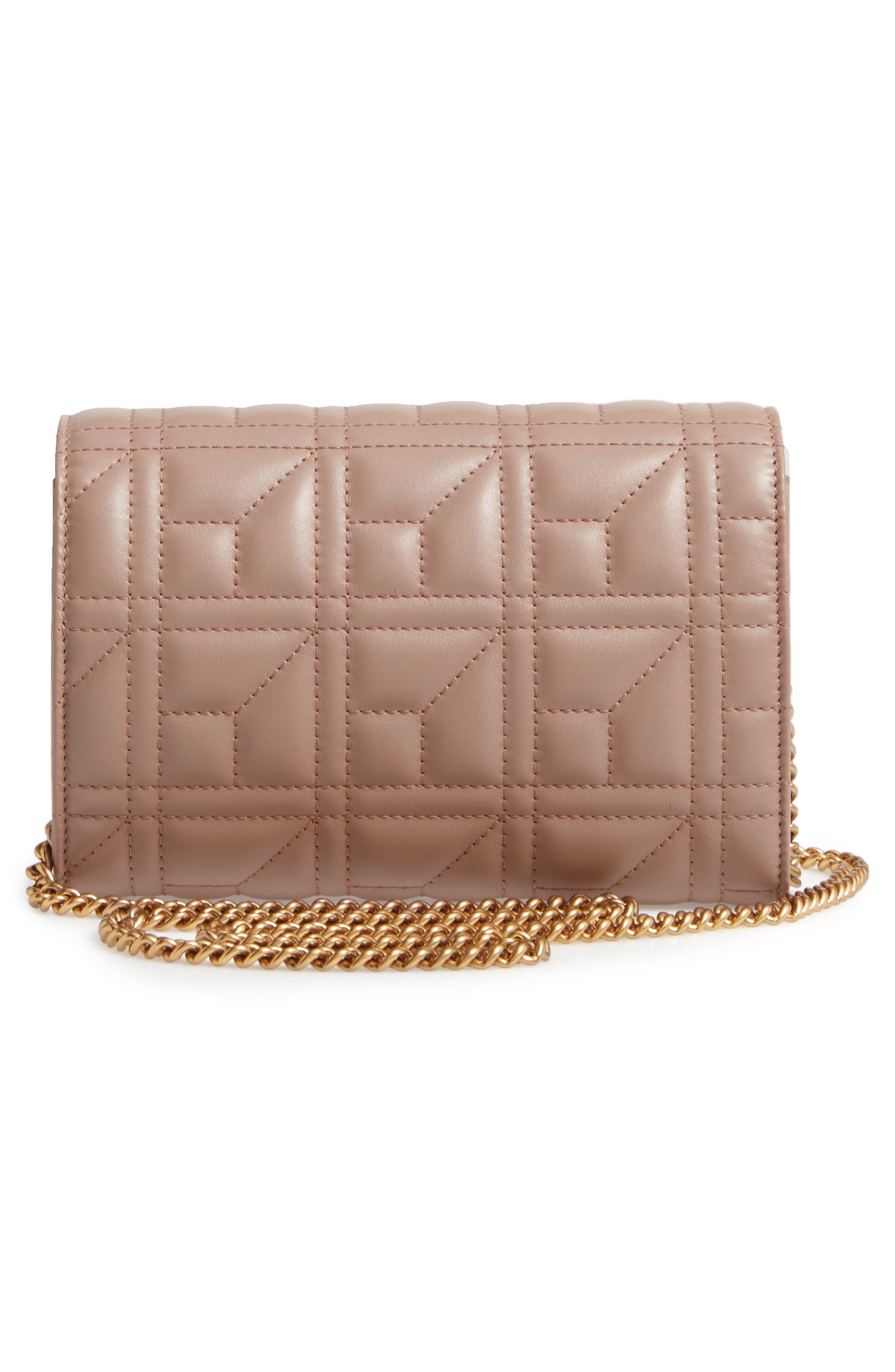 GG Marmont Matelassé Leather Wallet on a Chain,                             Alternate thumbnail 3, color,                             636