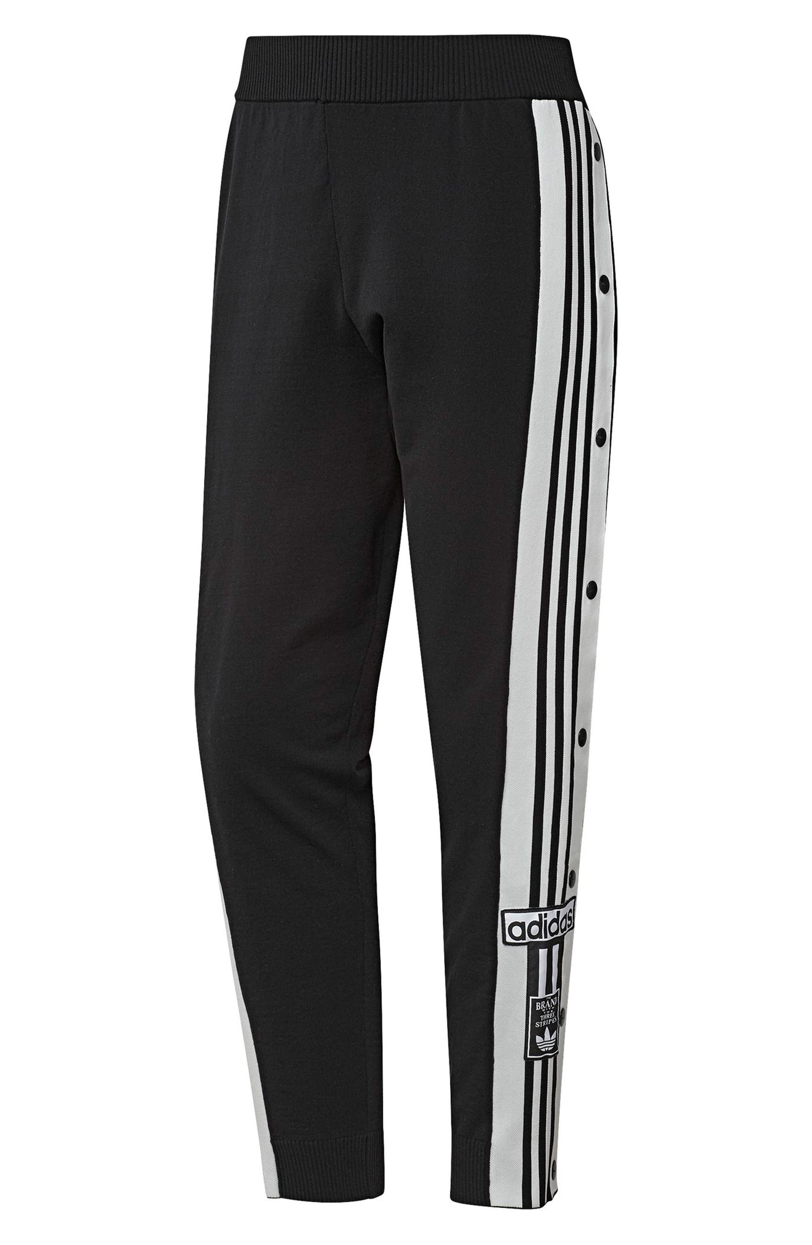 Adibreak Track Pants,                             Alternate thumbnail 7, color,                             BLACK