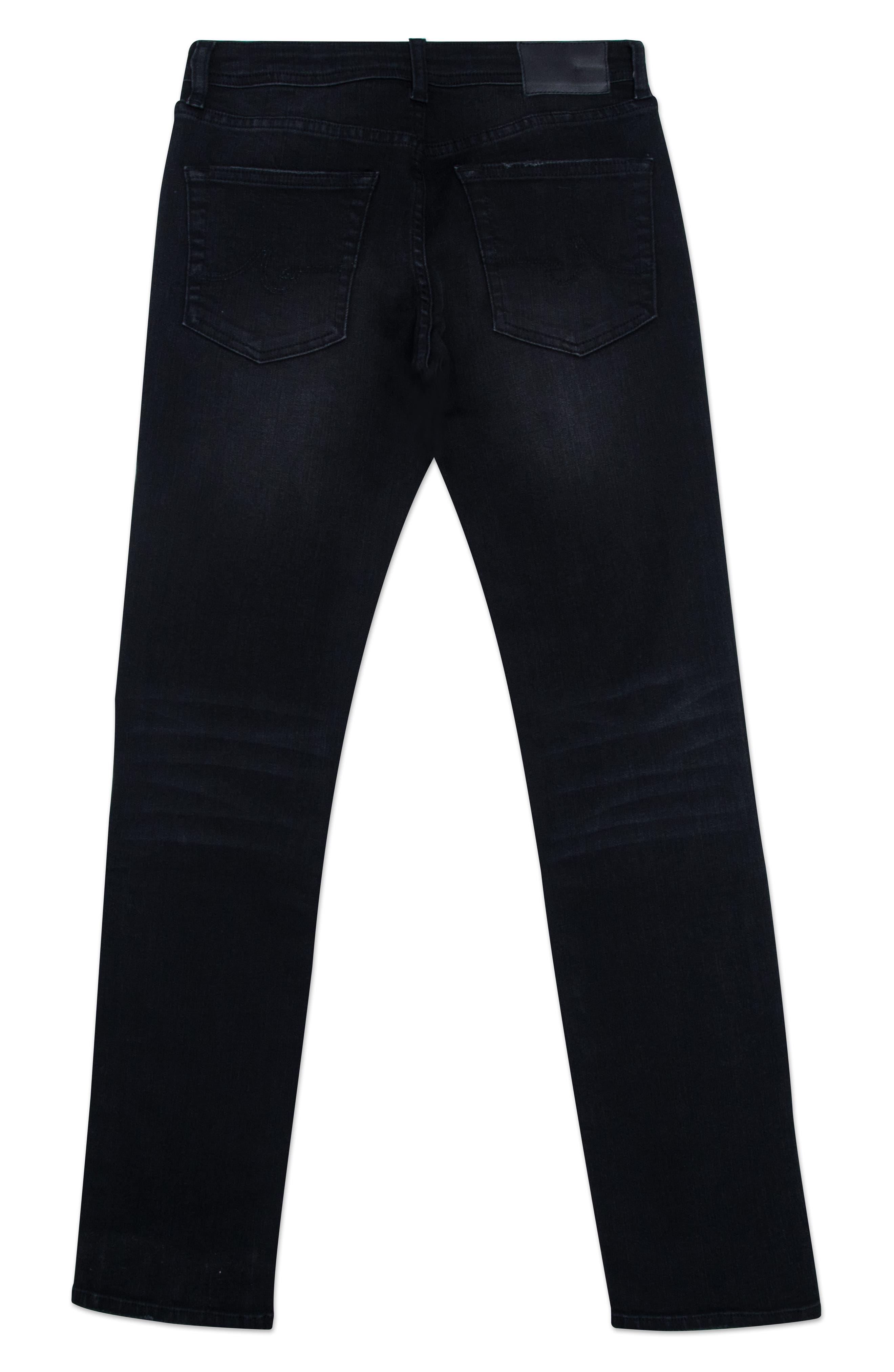 The Kingston Ripped Straight Leg Jeans,                             Alternate thumbnail 2, color,                             BLACK ROCK WASH