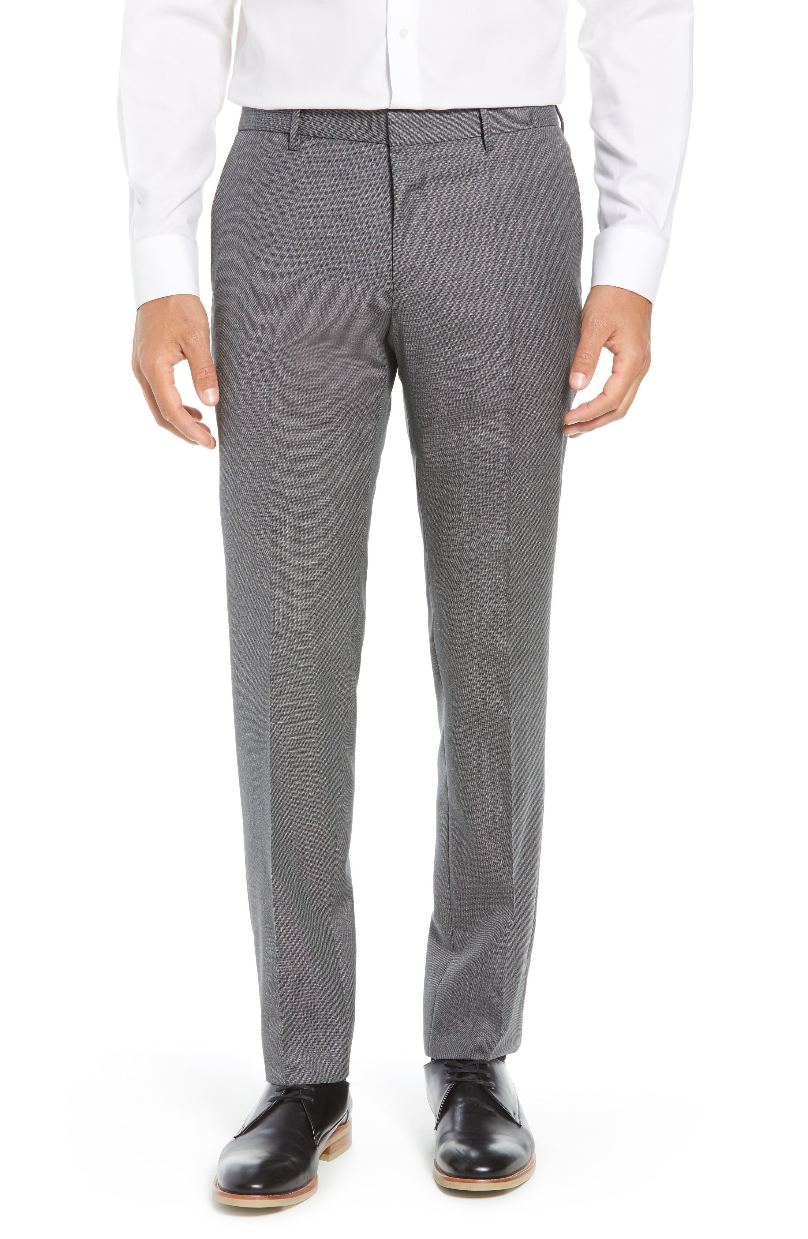 Novan/Ben Trim Fit Solid Wool Suit,                             Alternate thumbnail 6, color,                             GREY