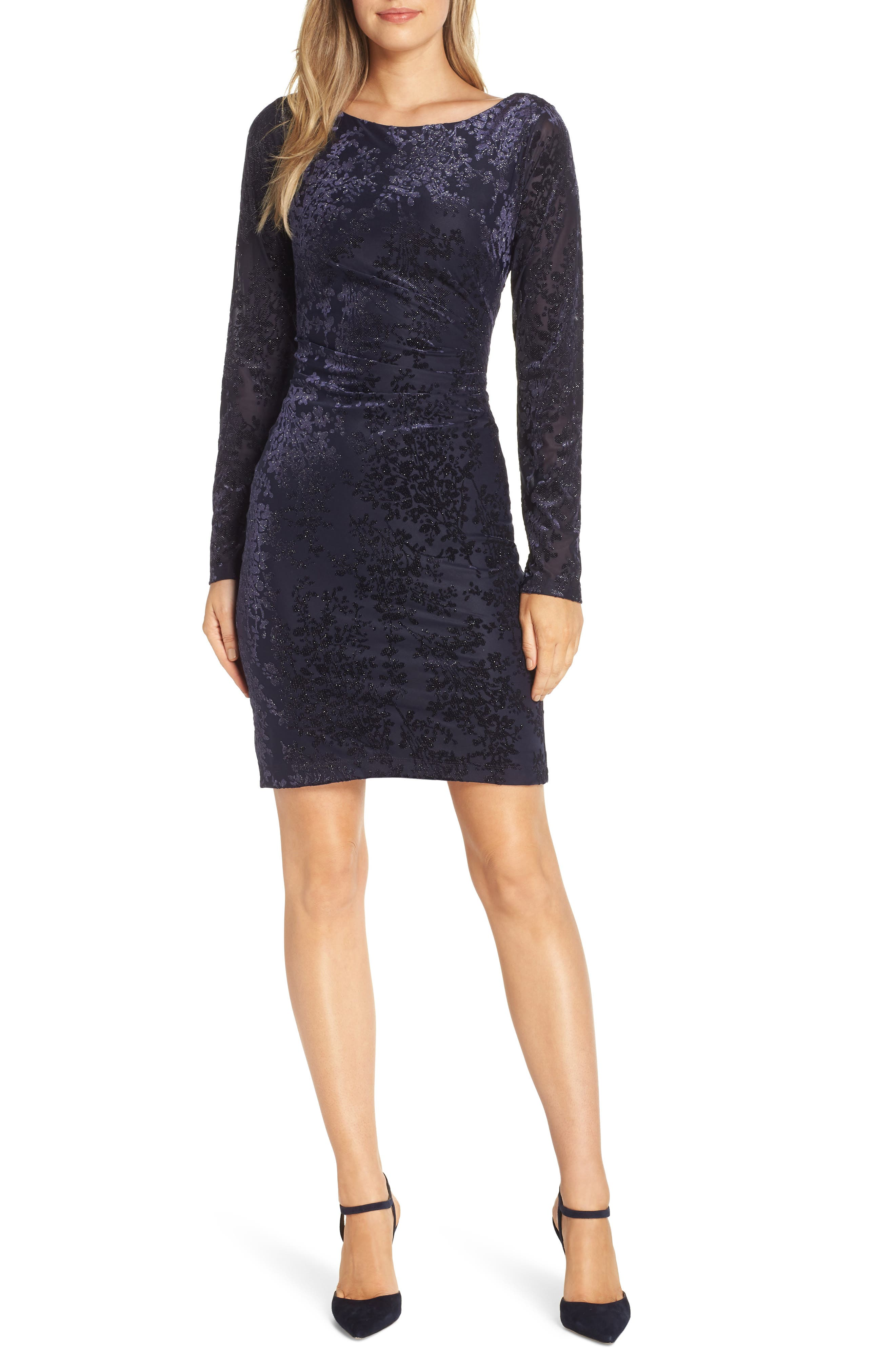 Vince Camuto Floral Sheath Dress, Blue