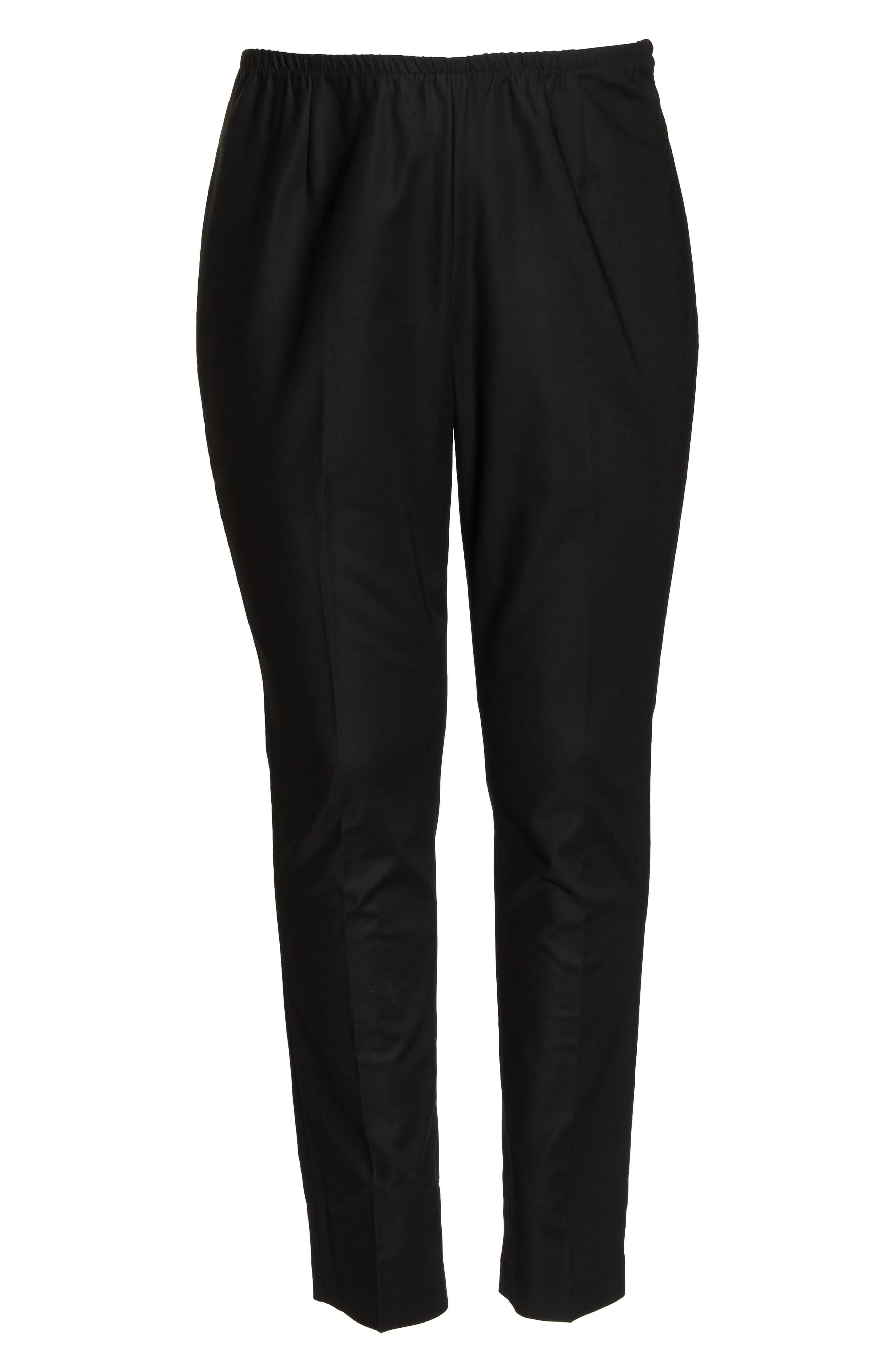 'Perfect' Side Zip Pants,                             Alternate thumbnail 6, color,                             BLACK ONYX