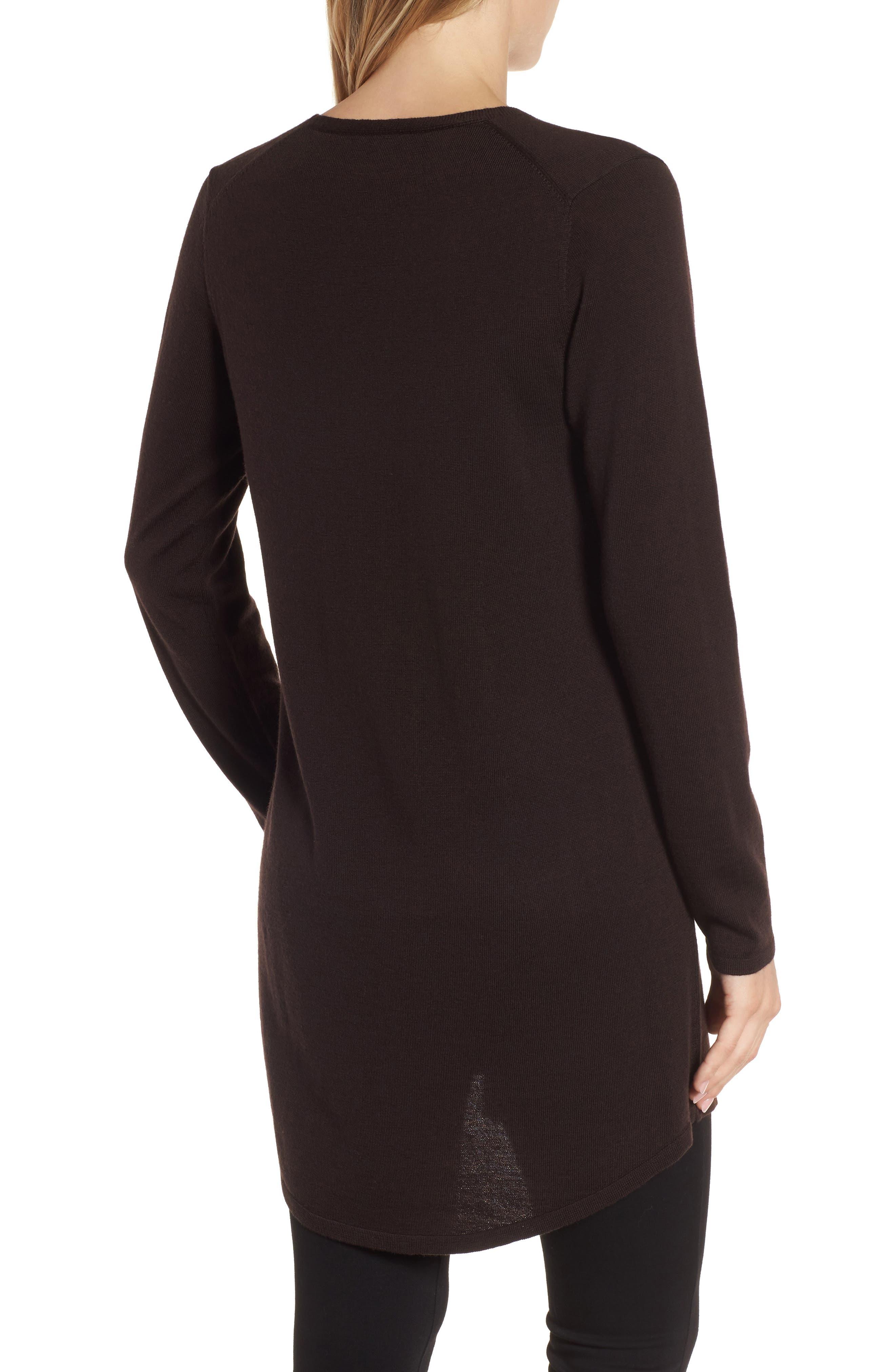 Lightweight Merino Jersey V-Neck Tunic,                             Alternate thumbnail 29, color,