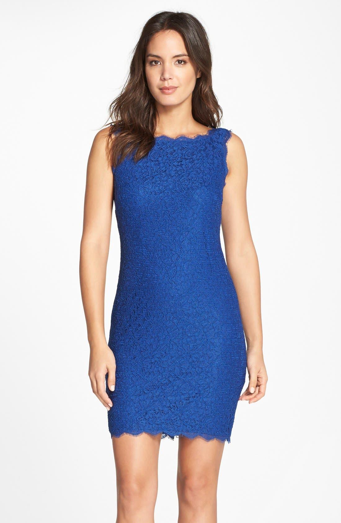 Boatneck Lace Sheath Dress,                             Main thumbnail 15, color,