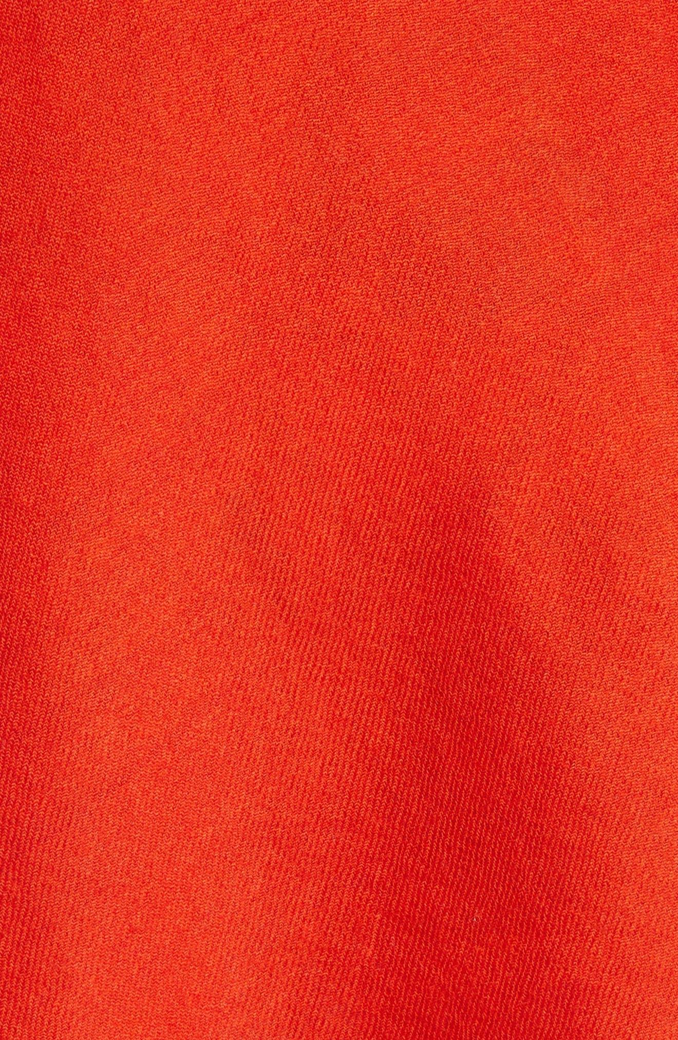 Draped Split One-Shoulder Top,                             Alternate thumbnail 5, color,                             600