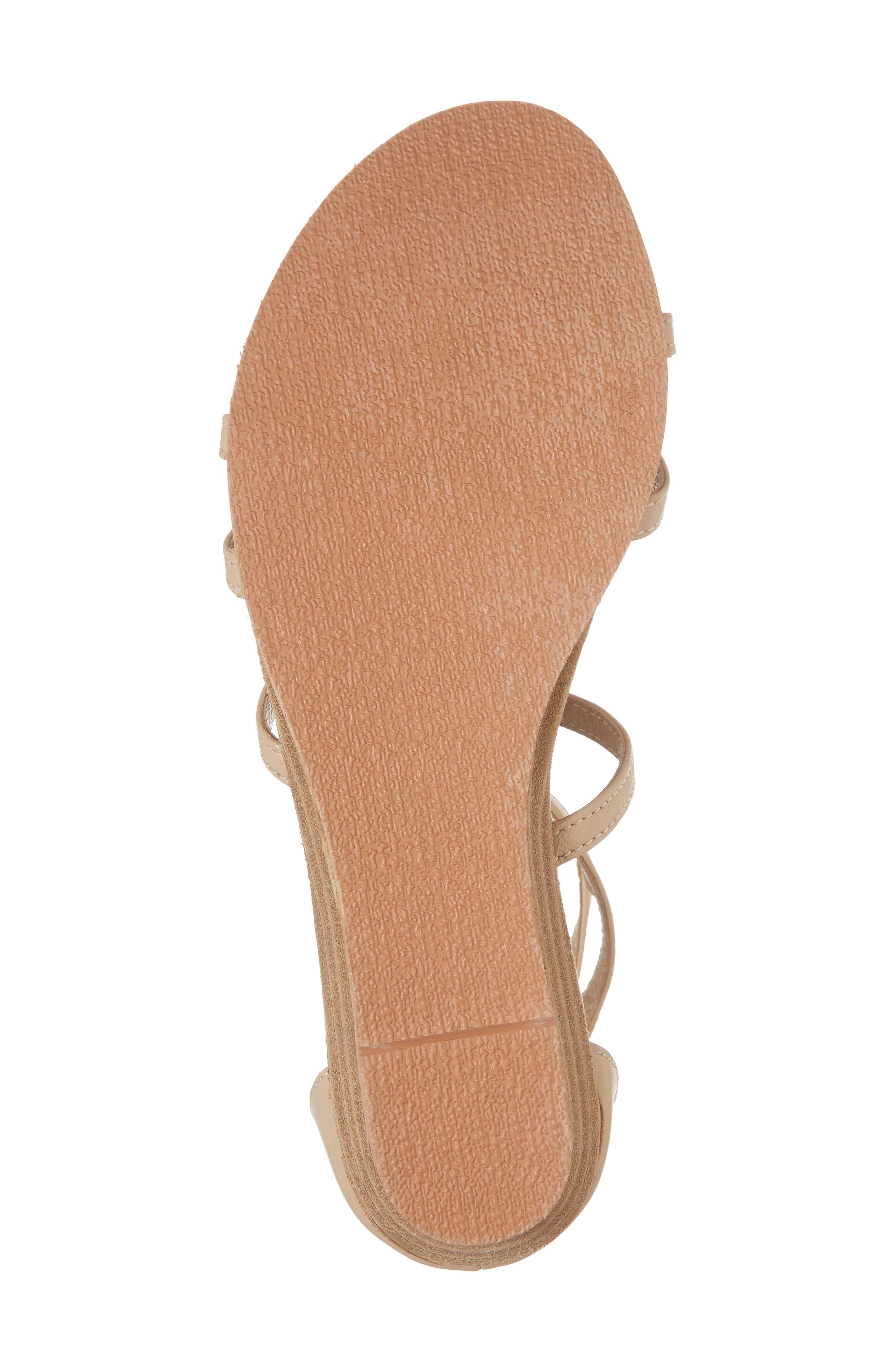 Didi Crystal Embellished Sandal,                             Alternate thumbnail 6, color,                             NATURAL LEATHER