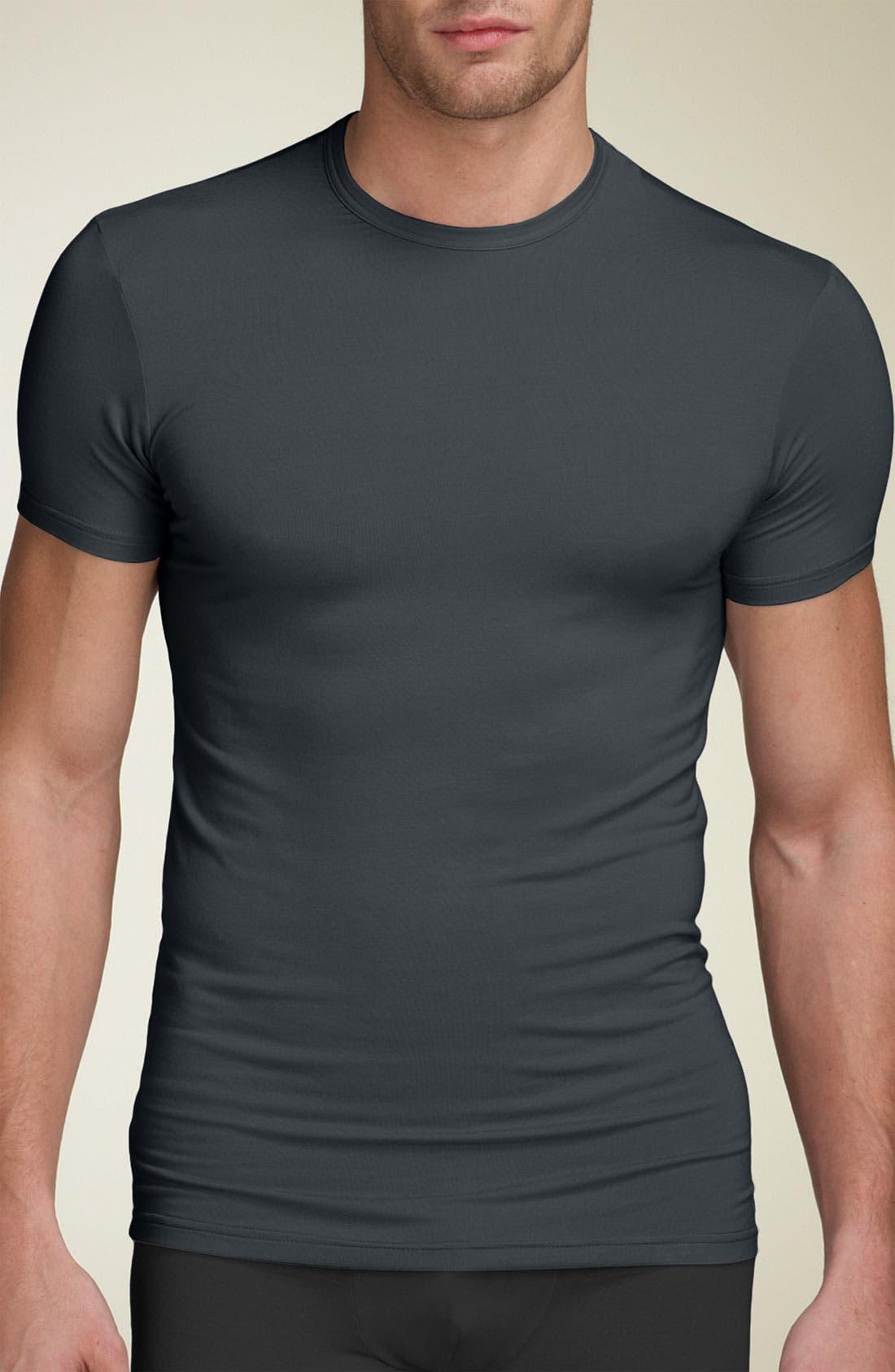 'U5551' Modal Blend Crewneck T-Shirt,                             Main thumbnail 1, color,                             MINK