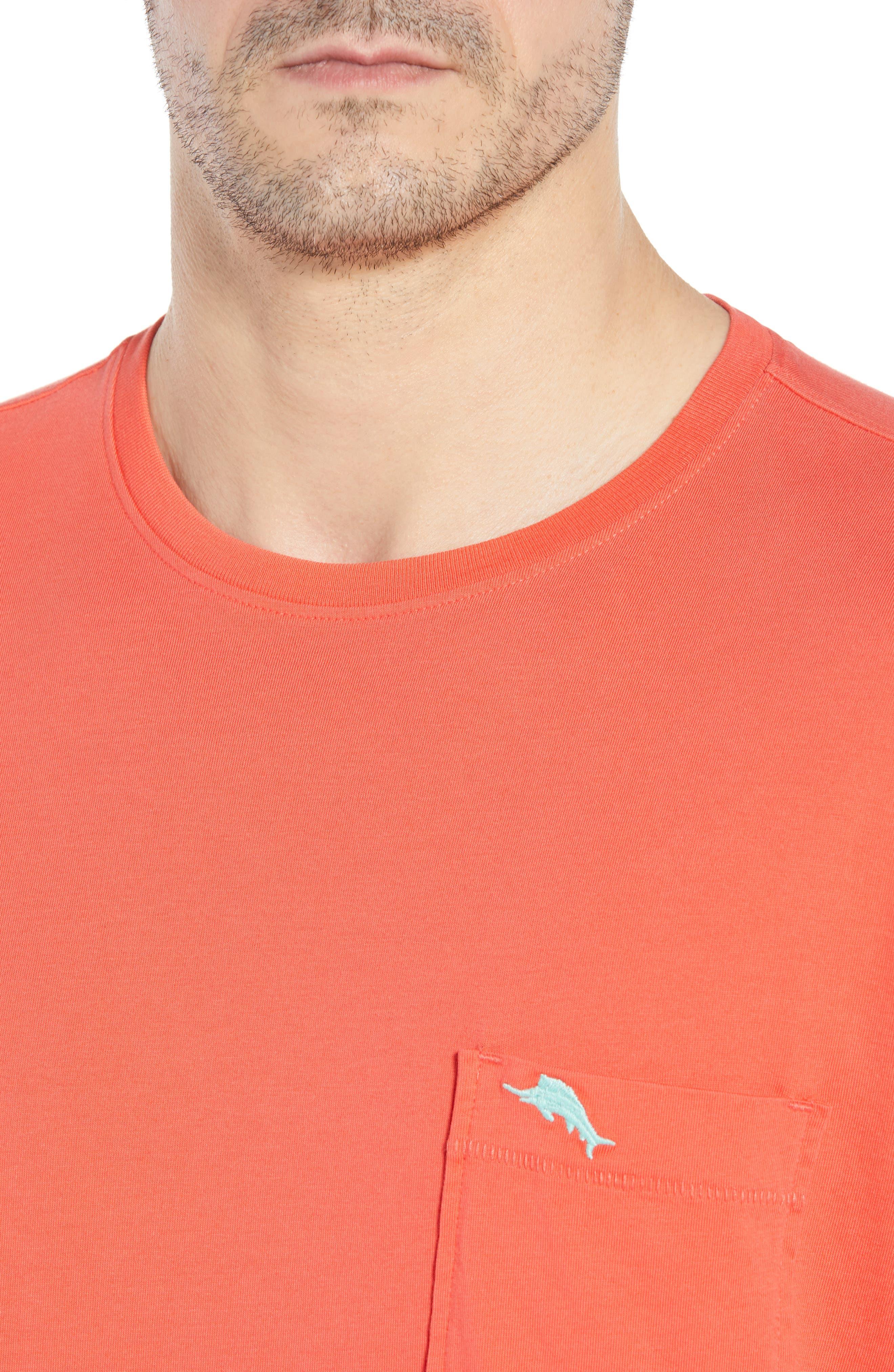 New Bali Sky Pima Cotton Pocket T-Shirt,                             Alternate thumbnail 102, color,
