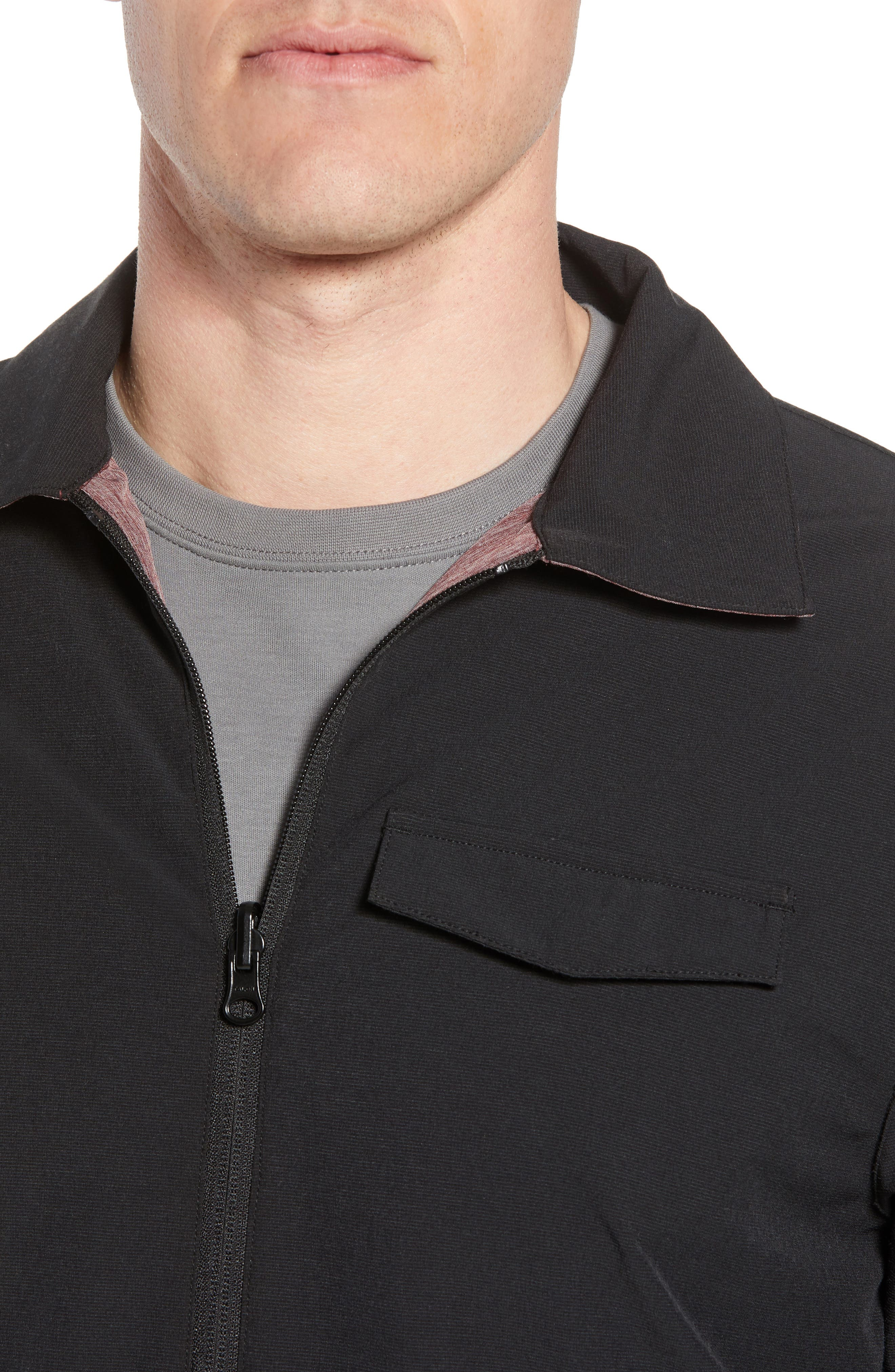 Battery Reversible Jacket,                             Alternate thumbnail 6, color,                             BLACK/ WINETASTING