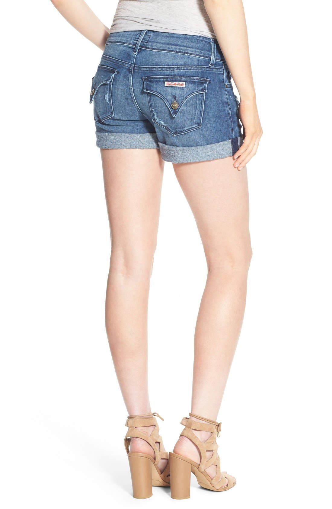 'Croxley' Cuffed Denim Shorts,                             Alternate thumbnail 9, color,