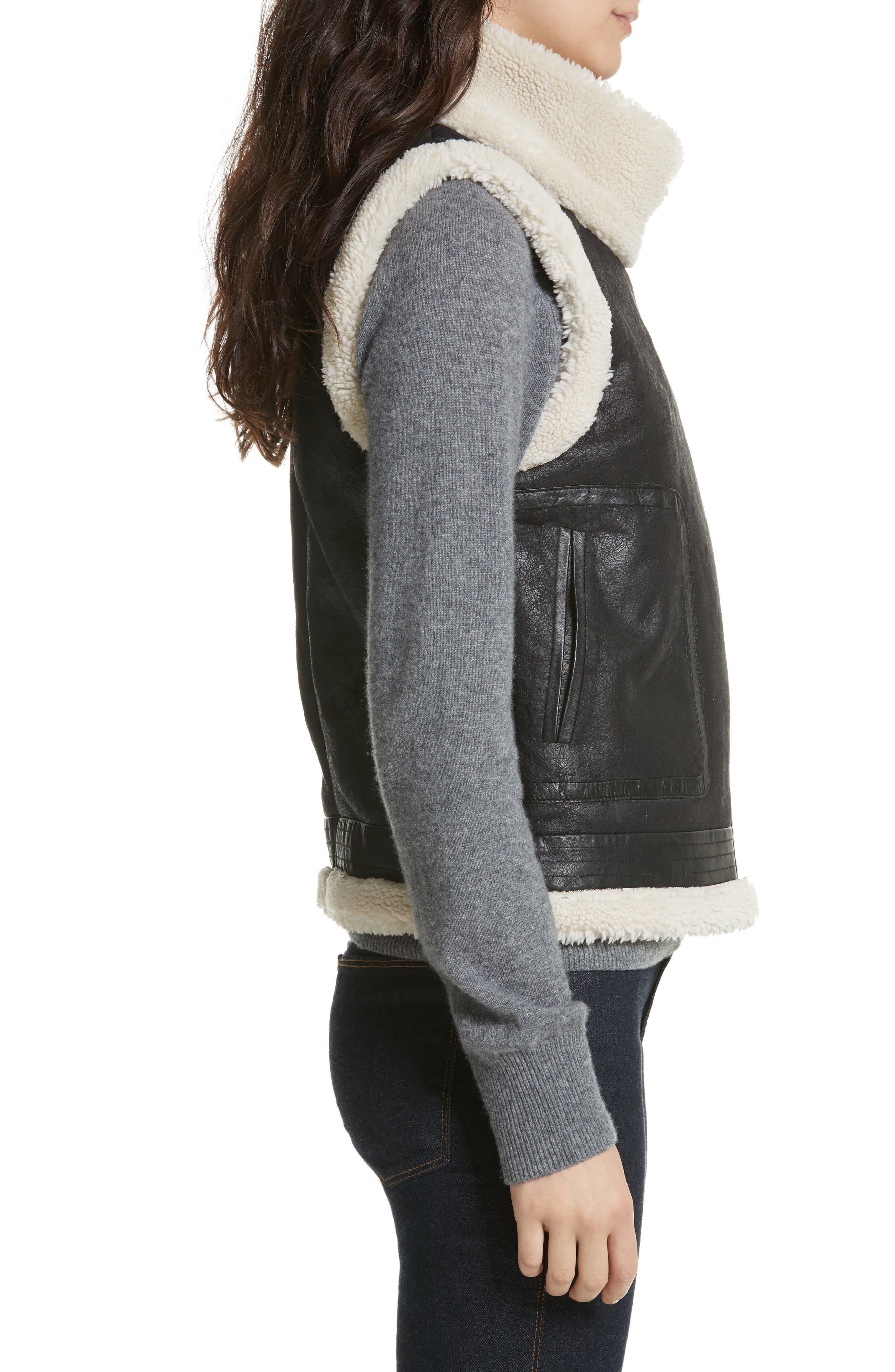 Danay Faux Shearling Vest,                             Alternate thumbnail 3, color,                             002