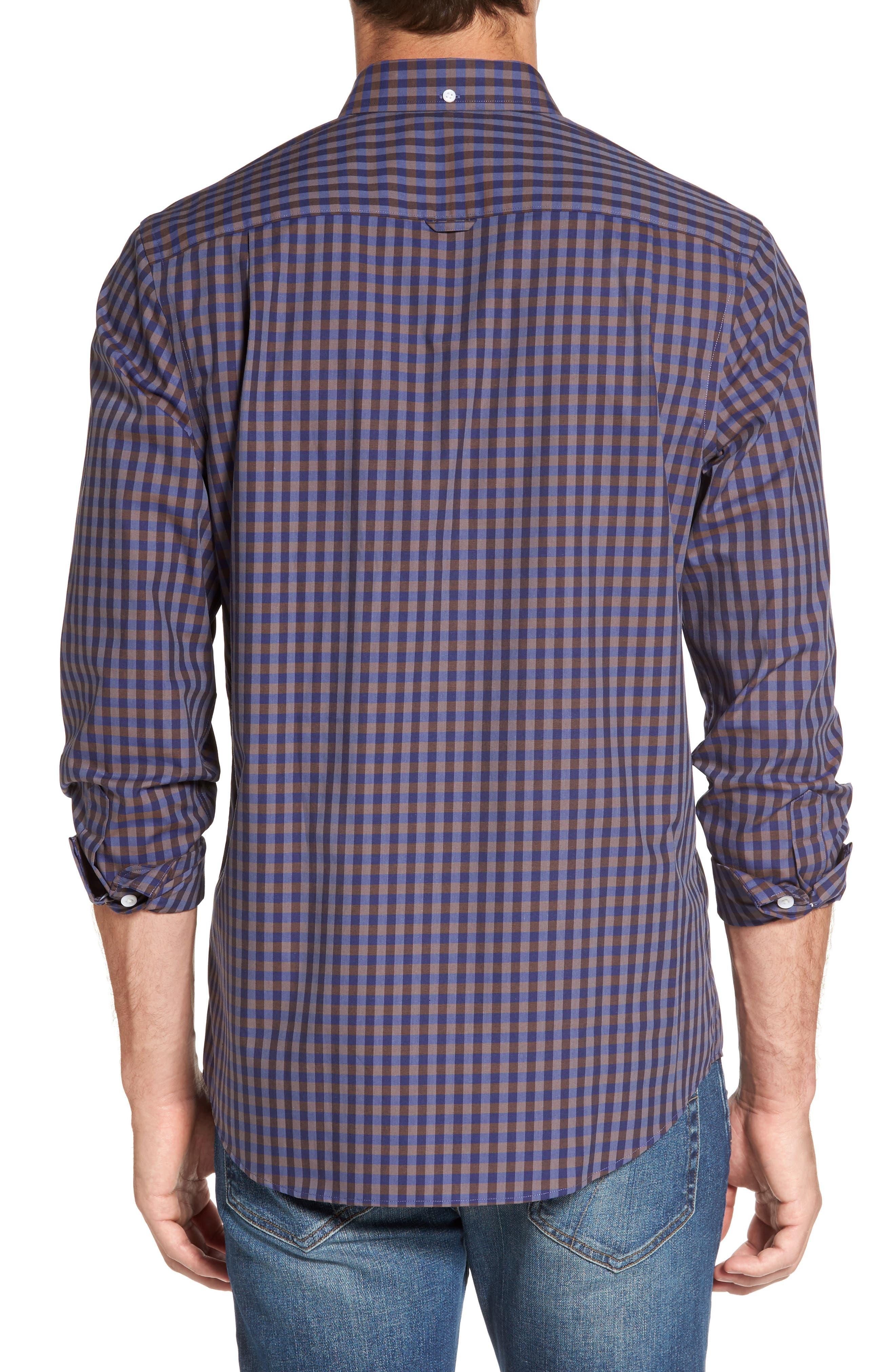 Regular Fit Non-Iron Check Sport Shirt,                             Alternate thumbnail 2, color,