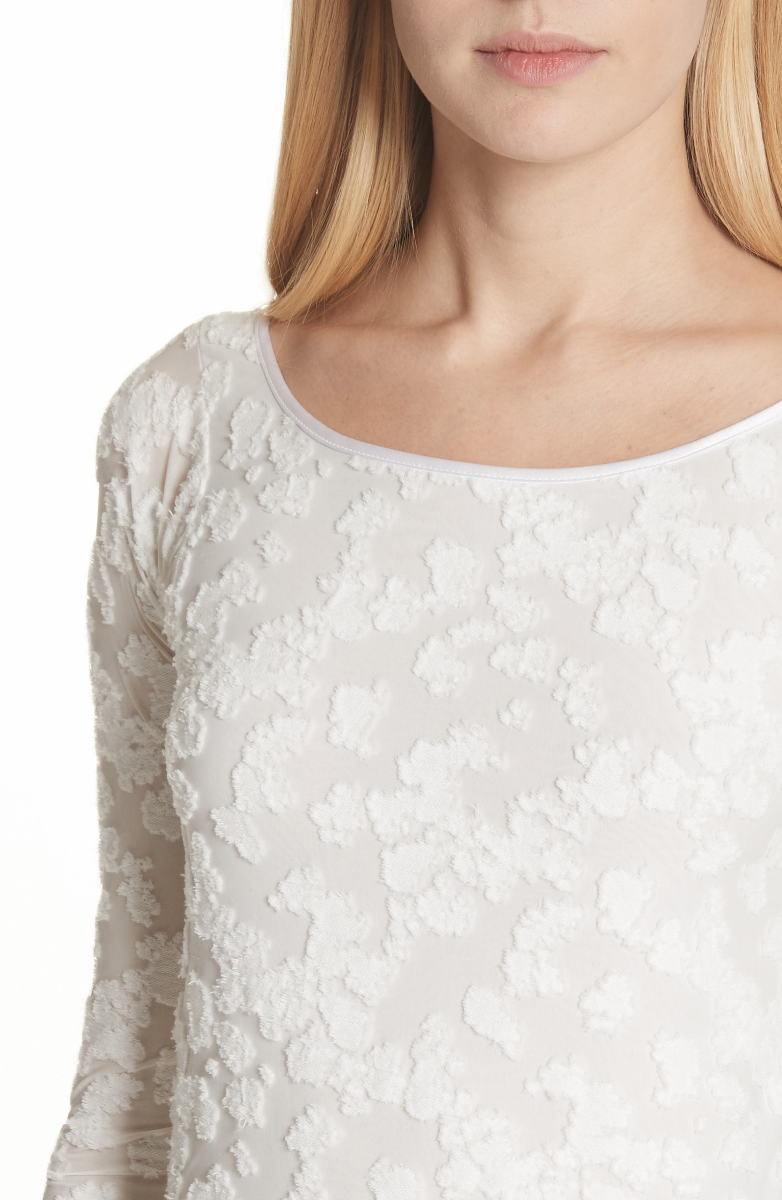 Lucie Floral Jacquard Sweater,                             Alternate thumbnail 4, color,