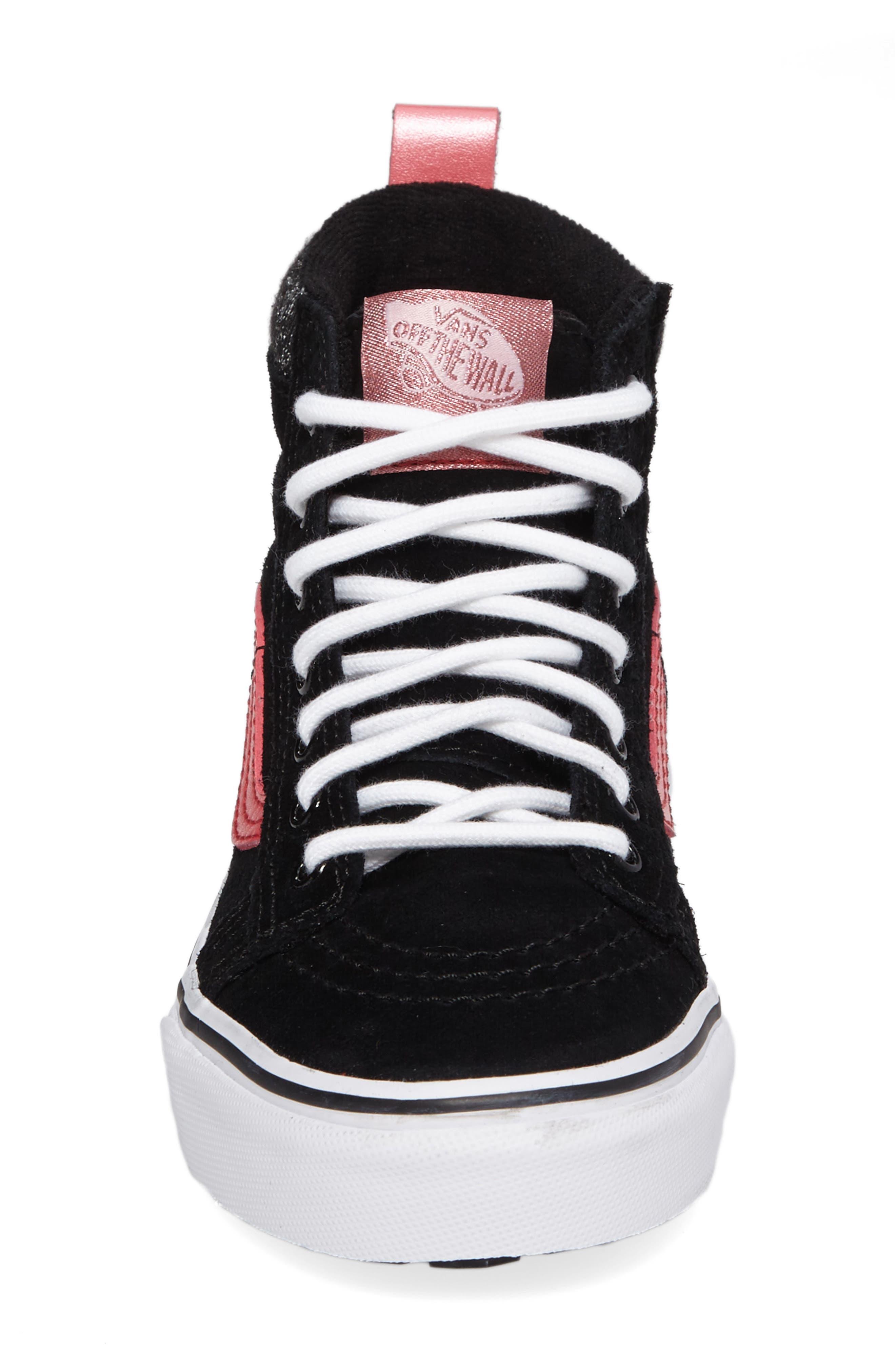 SK8-Hi Sneaker,                             Alternate thumbnail 4, color,                             001