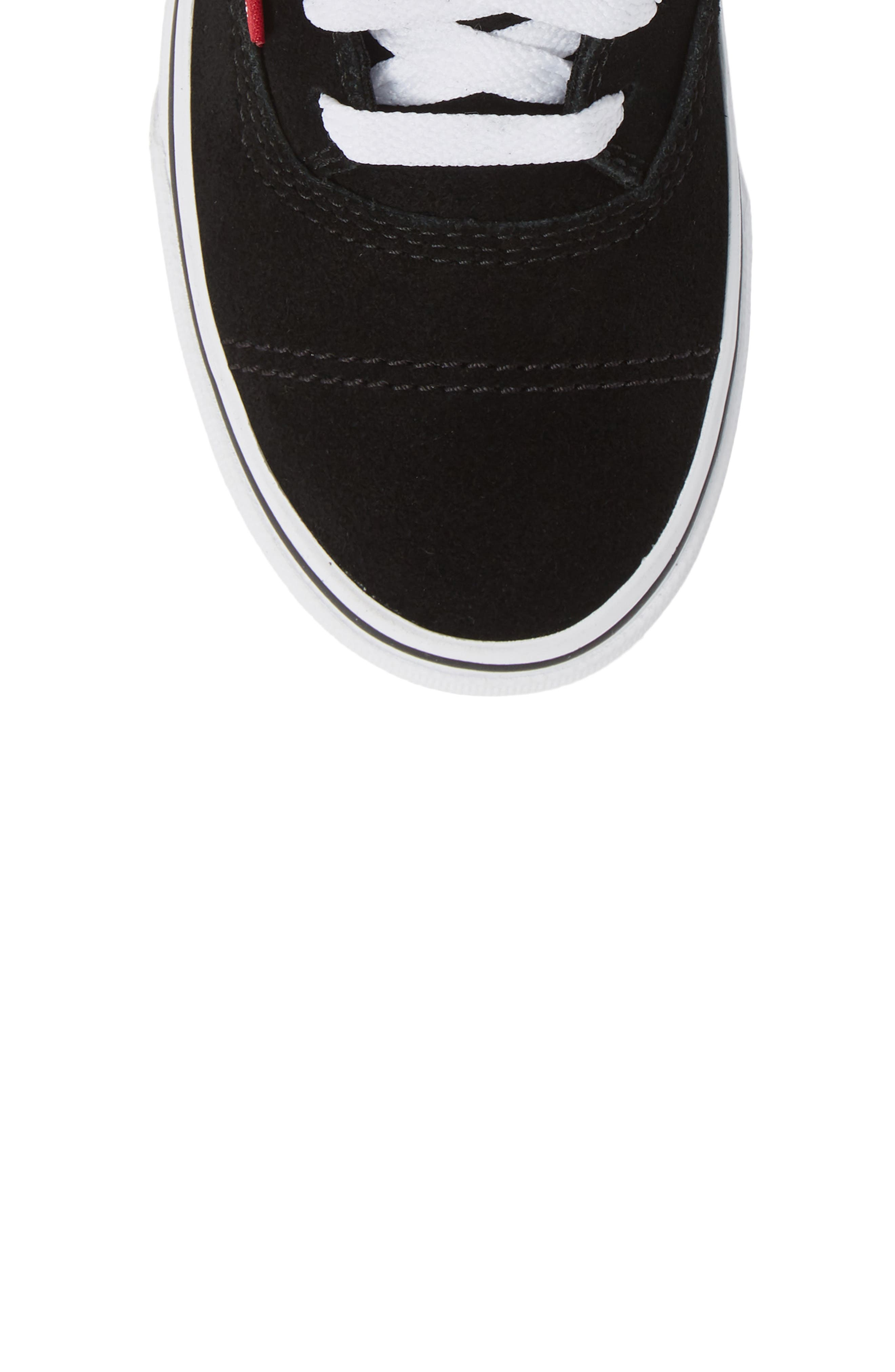 Era - Hi Sneaker,                             Alternate thumbnail 5, color,                             SUEDE AND PLAID BLACK/ WHITE