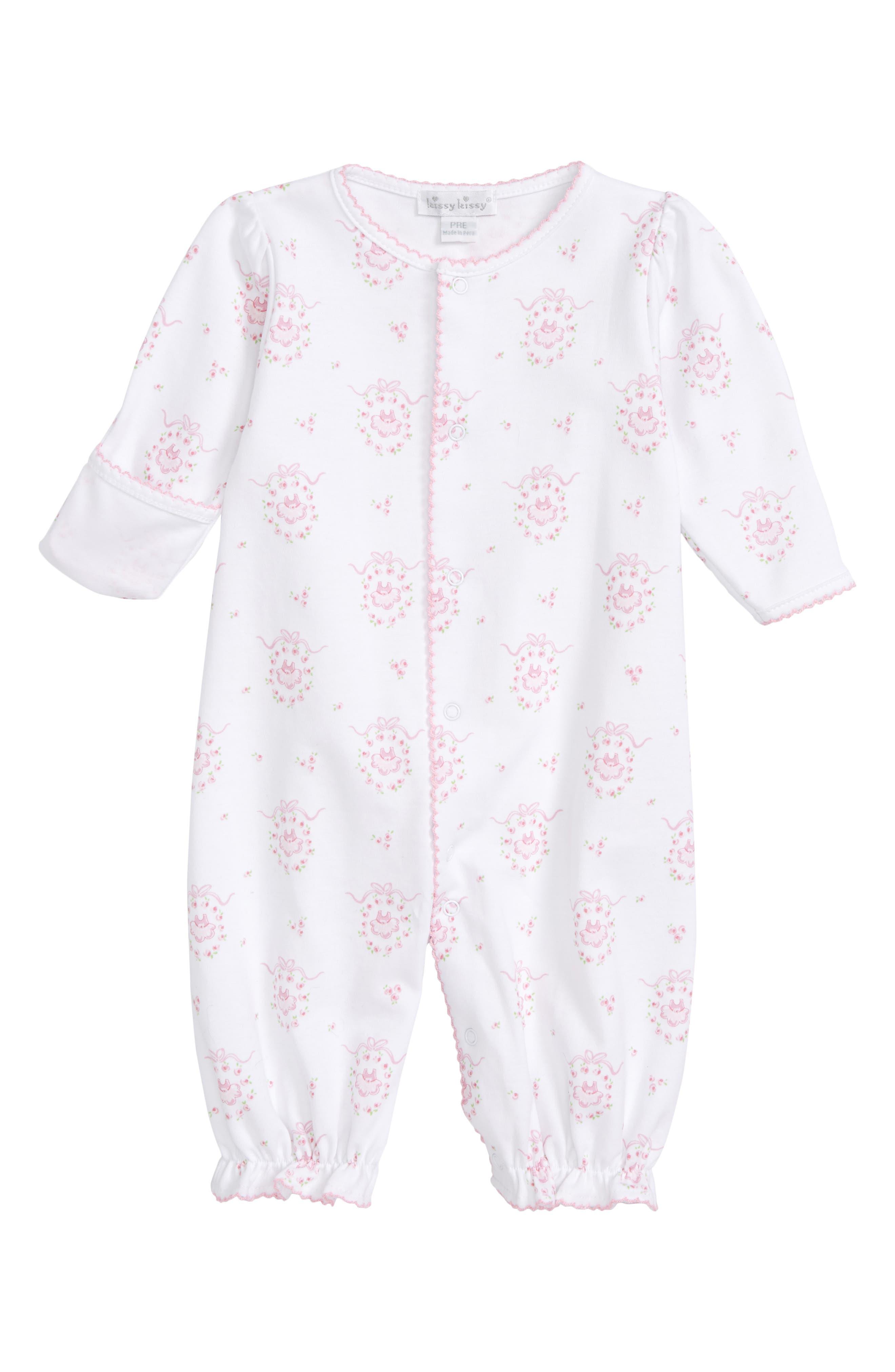 Convertible Pima Cotton Gown,                             Alternate thumbnail 2, color,                             650