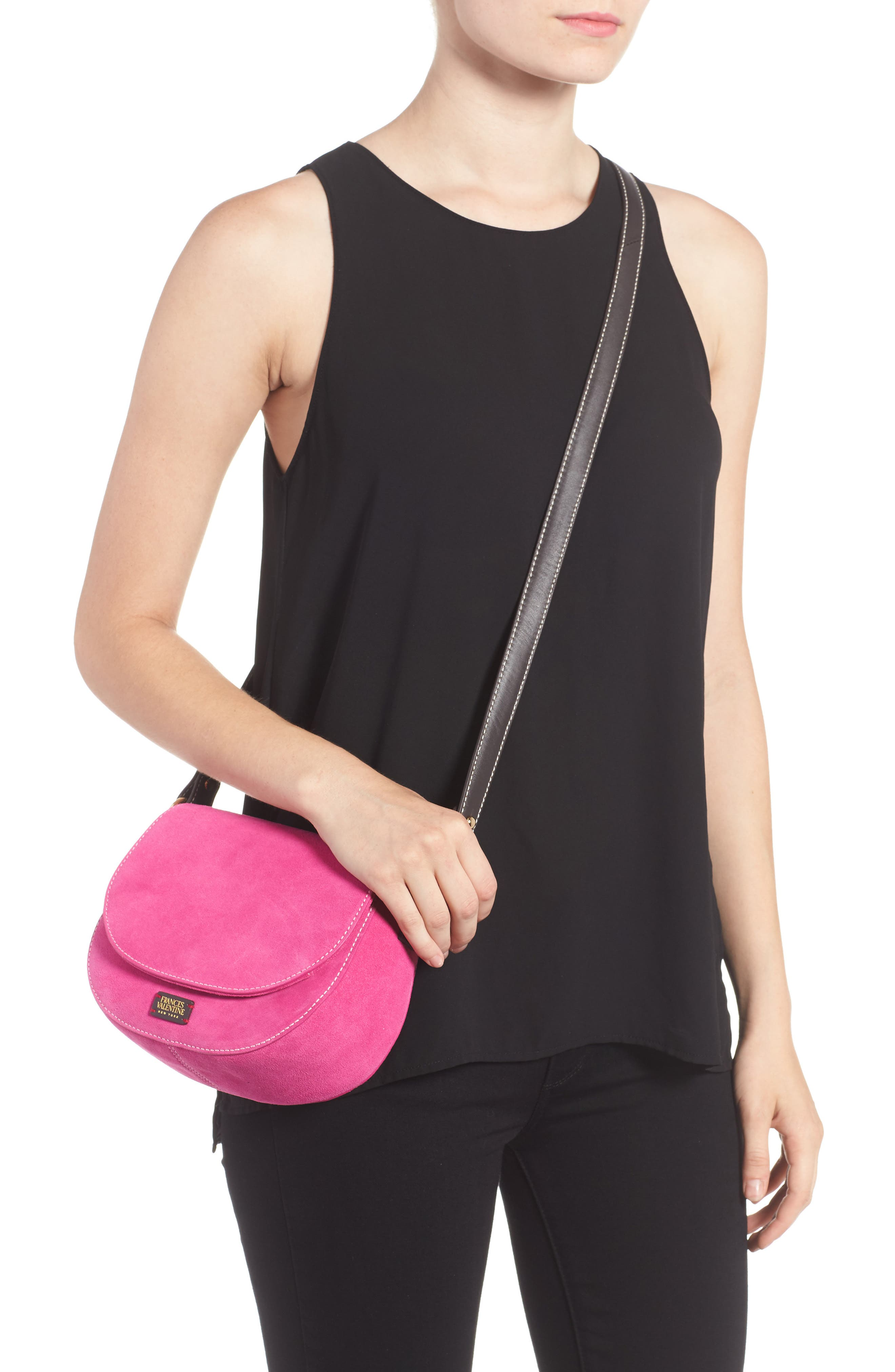 Mini Ellen Suede Crossbody Bag,                             Alternate thumbnail 6, color,