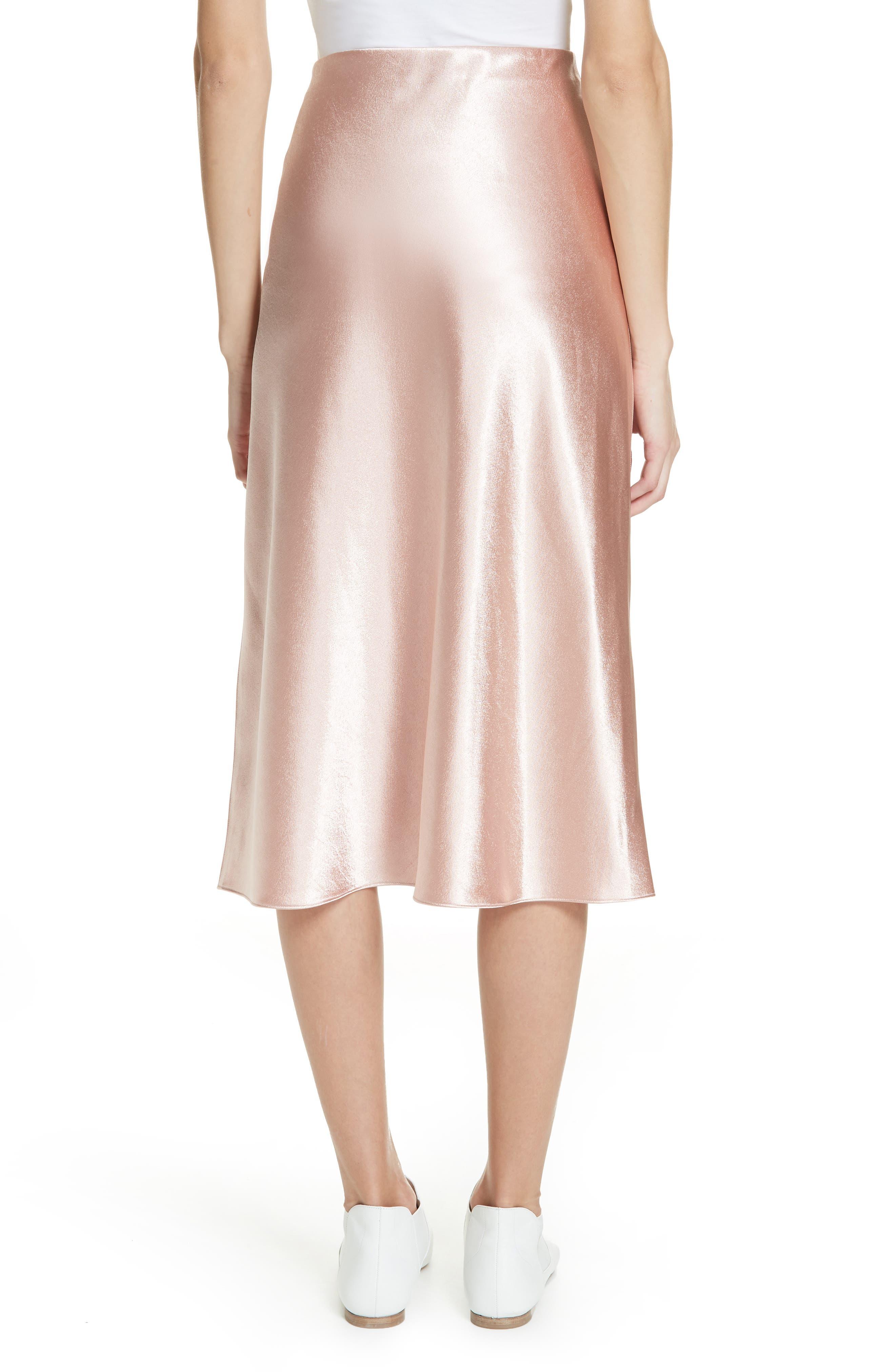Satin Slip Skirt,                             Alternate thumbnail 2, color,                             BLUSH
