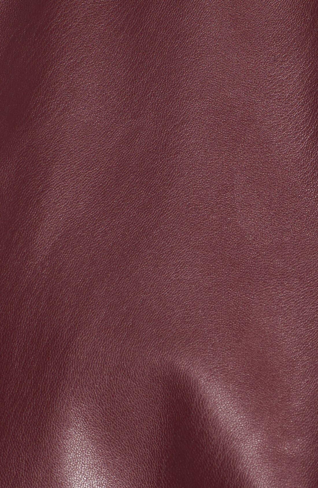 'Peppin' Drape Front Faux Leather Jacket,                             Alternate thumbnail 44, color,