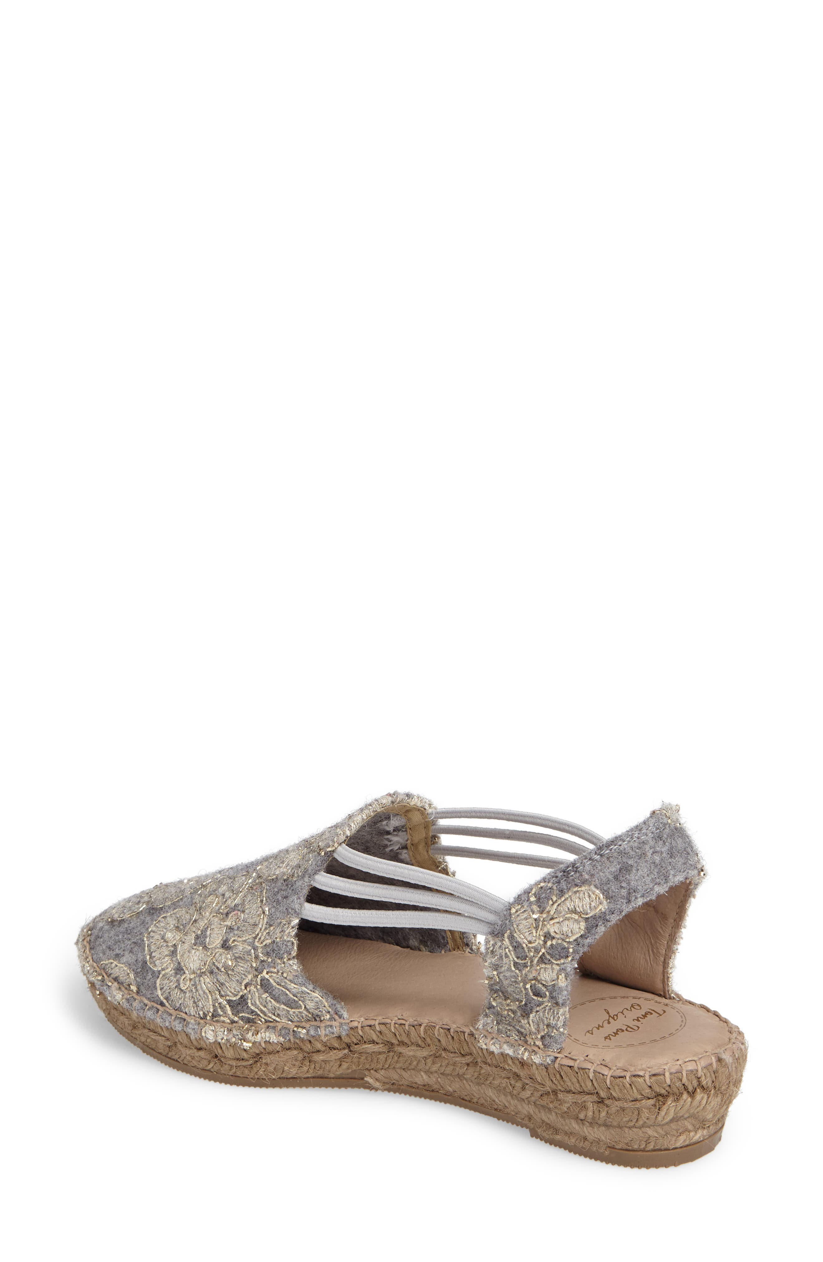 Metz Embroidered Espadrille Wedge,                             Alternate thumbnail 2, color,                             020