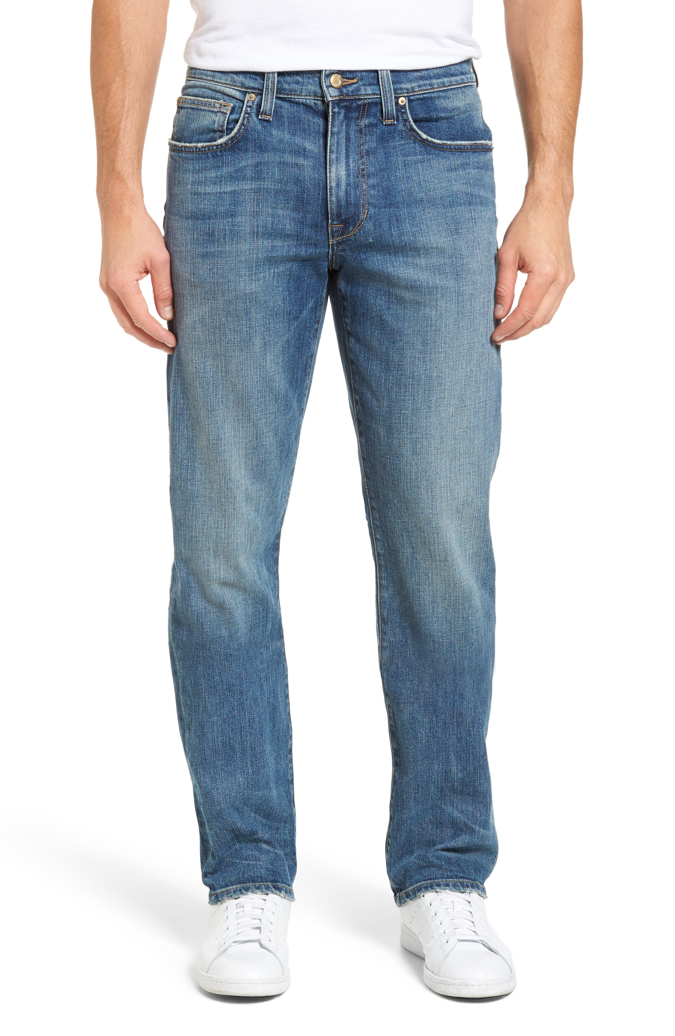 Brixton Slim Straight Fit Jeans,                             Main thumbnail 1, color,                             400