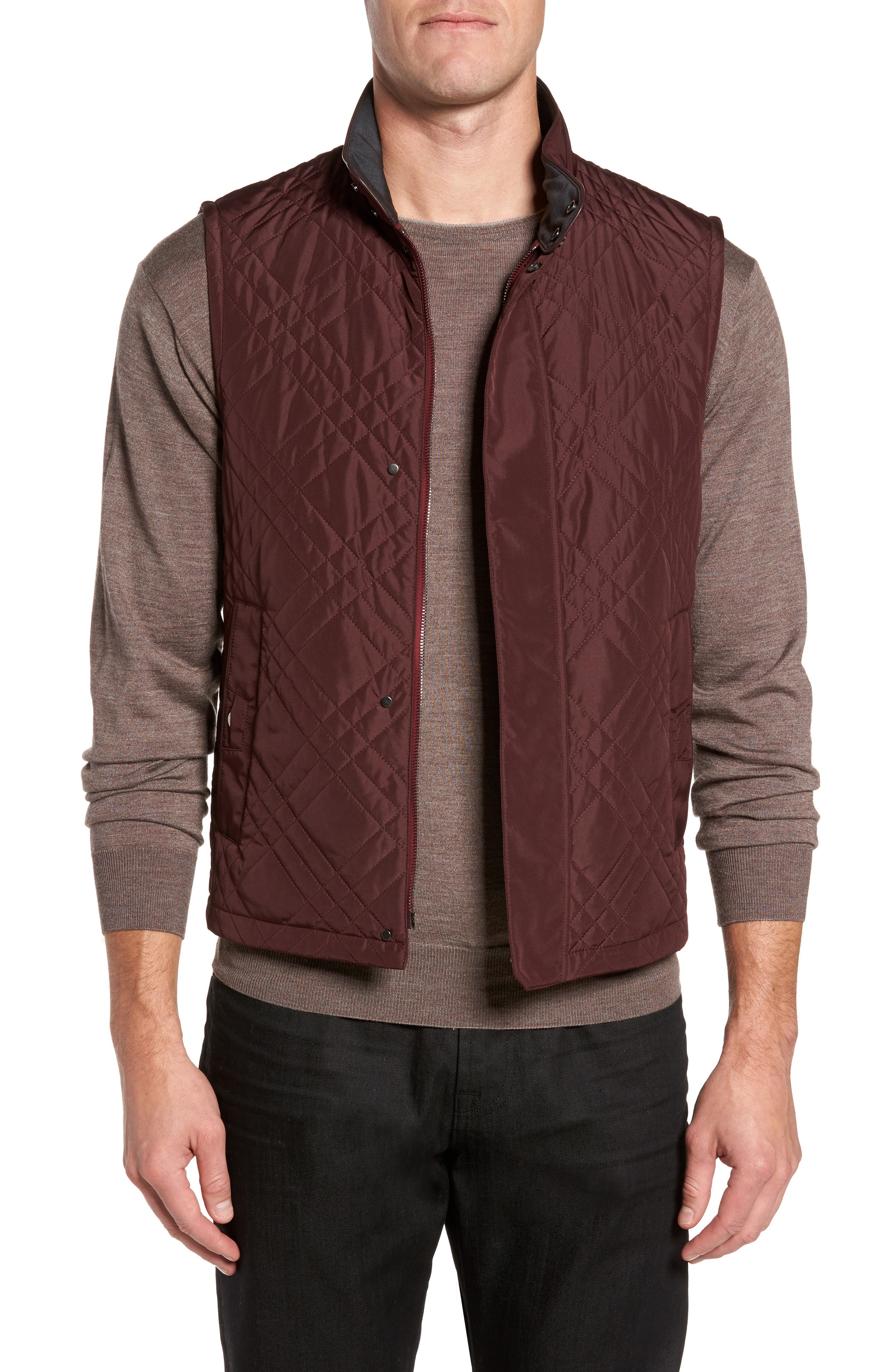 Quilted Field Vest,                         Main,                         color, 930