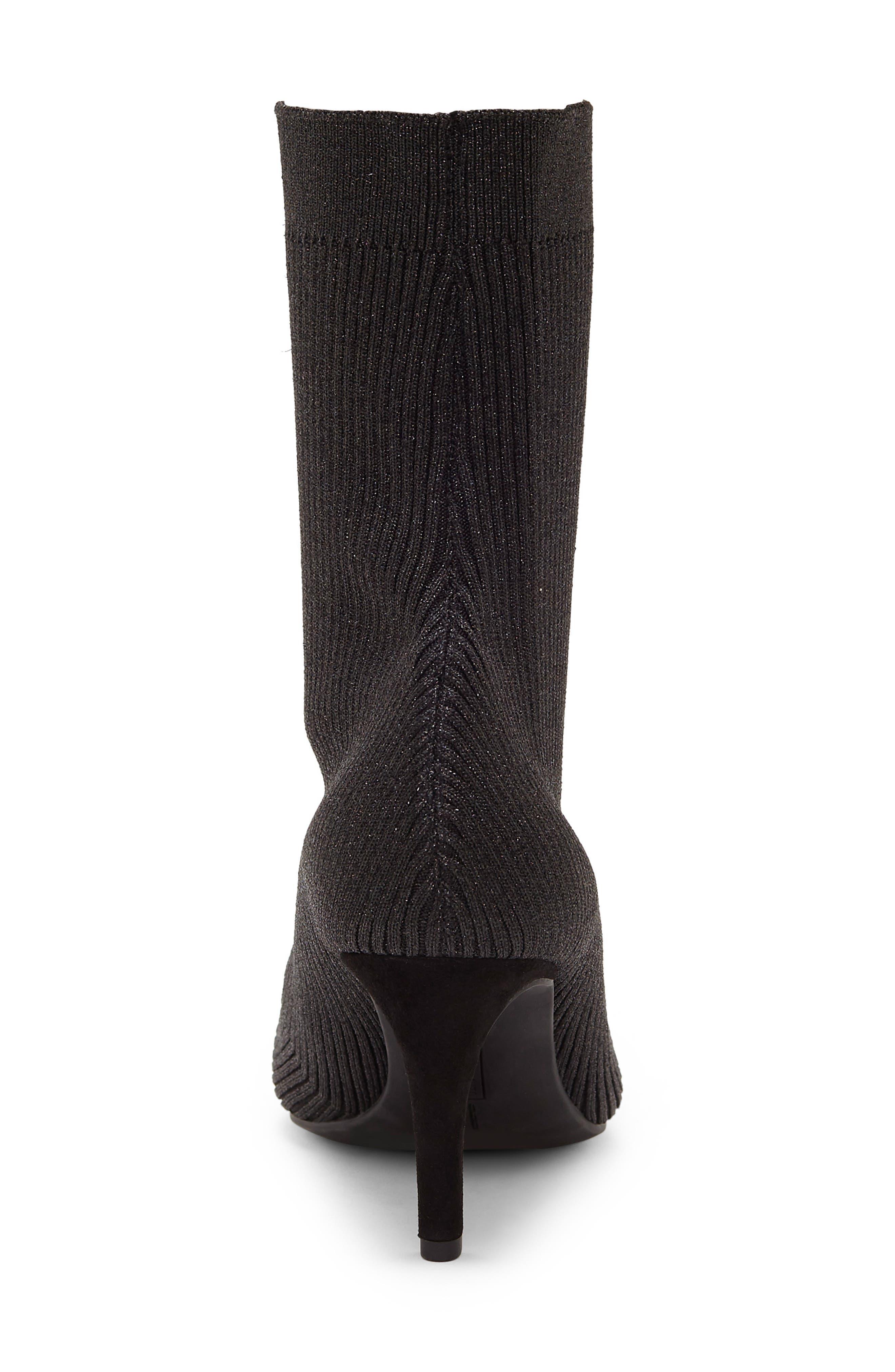 Roreeta Sock Boot,                             Alternate thumbnail 7, color,                             BLACK FABRIC