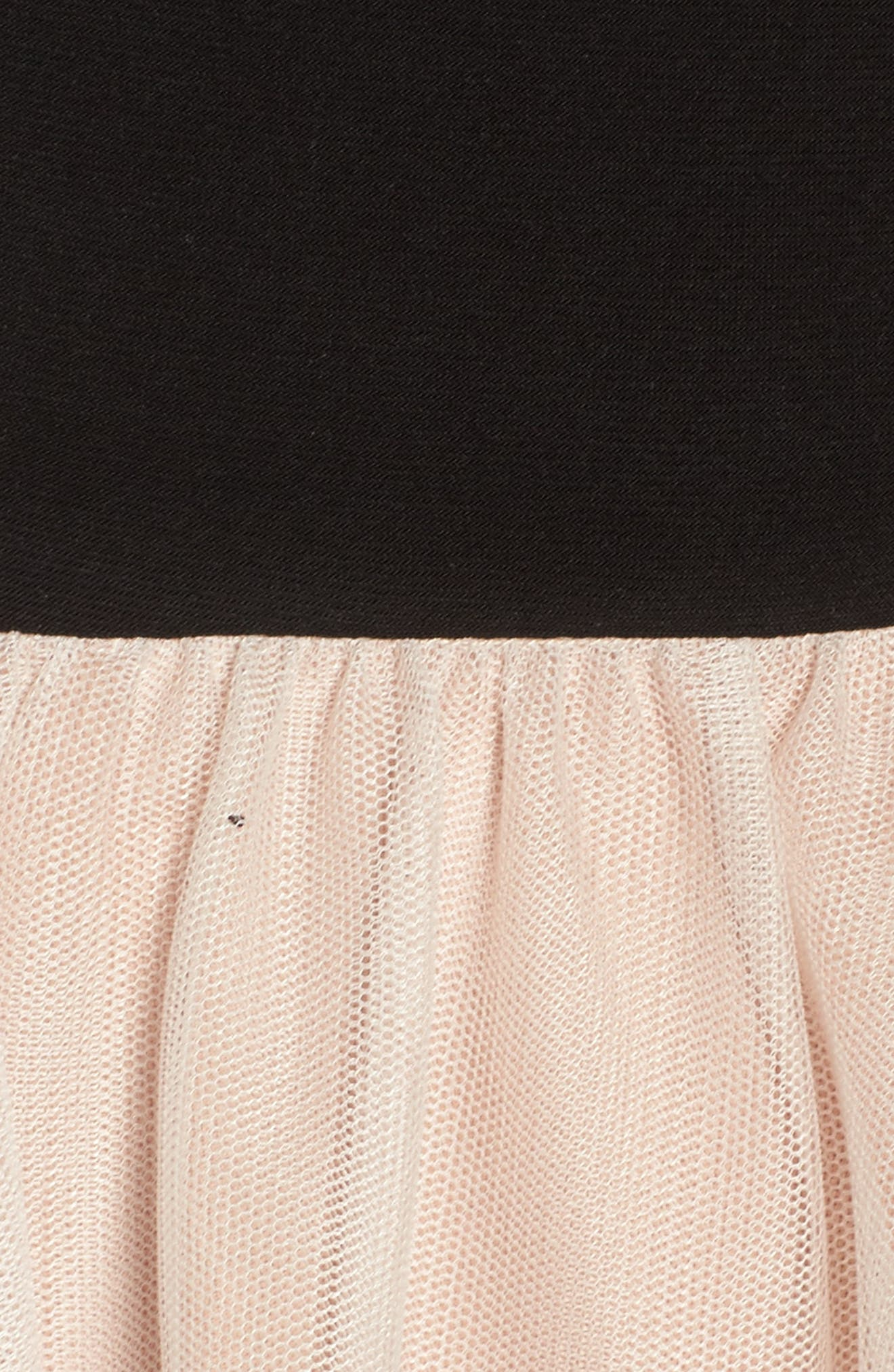 Appliqué Fit & Flare Dress,                             Alternate thumbnail 5, color,
