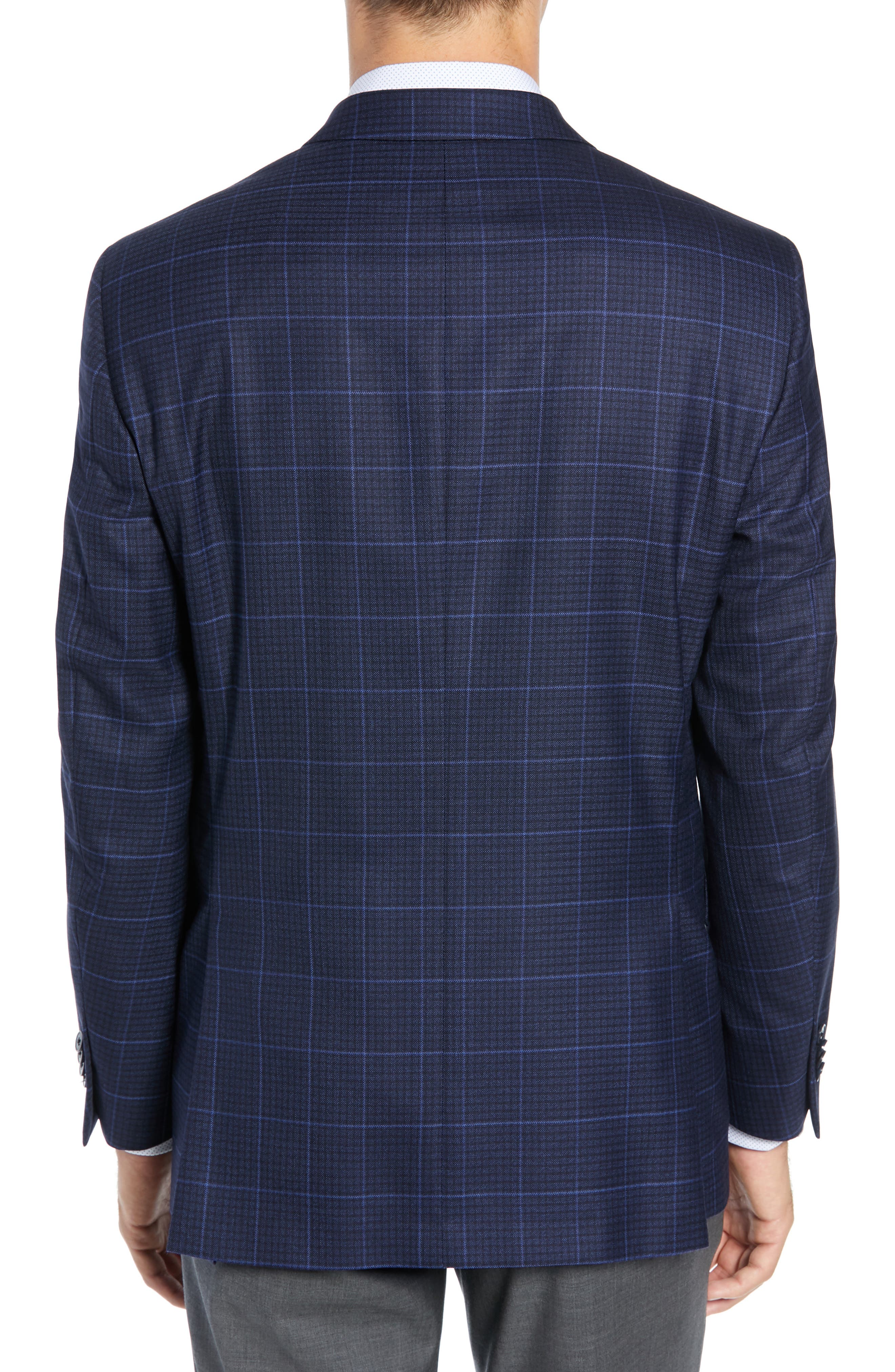 Flynn Classic Fit Plaid Check Sport Coat,                             Alternate thumbnail 2, color,                             NAVY