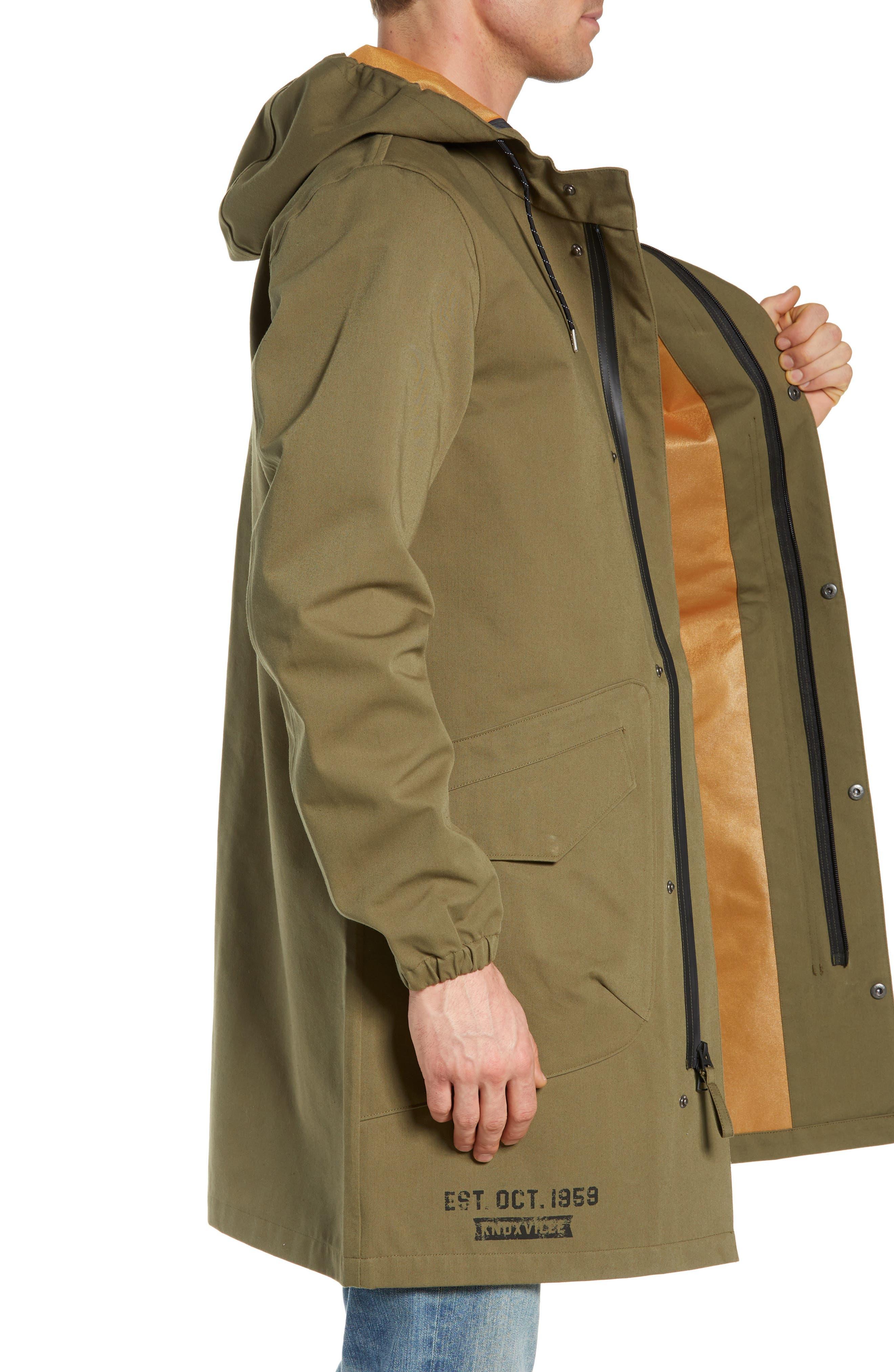 Duster Waterproof Field Coat,                             Alternate thumbnail 3, color,                             VINTAGE OLIVE