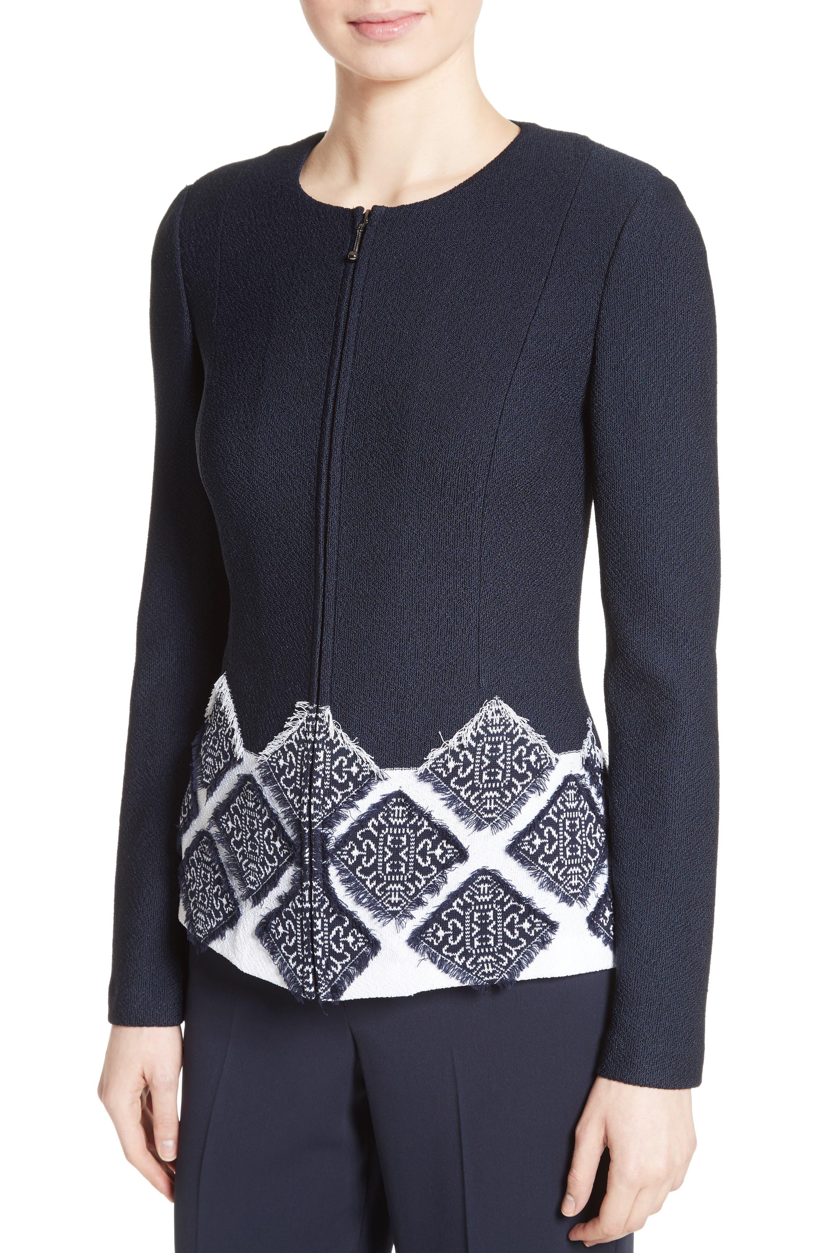 Ahem Knit Fil Coupé Jacket,                             Alternate thumbnail 4, color,                             410