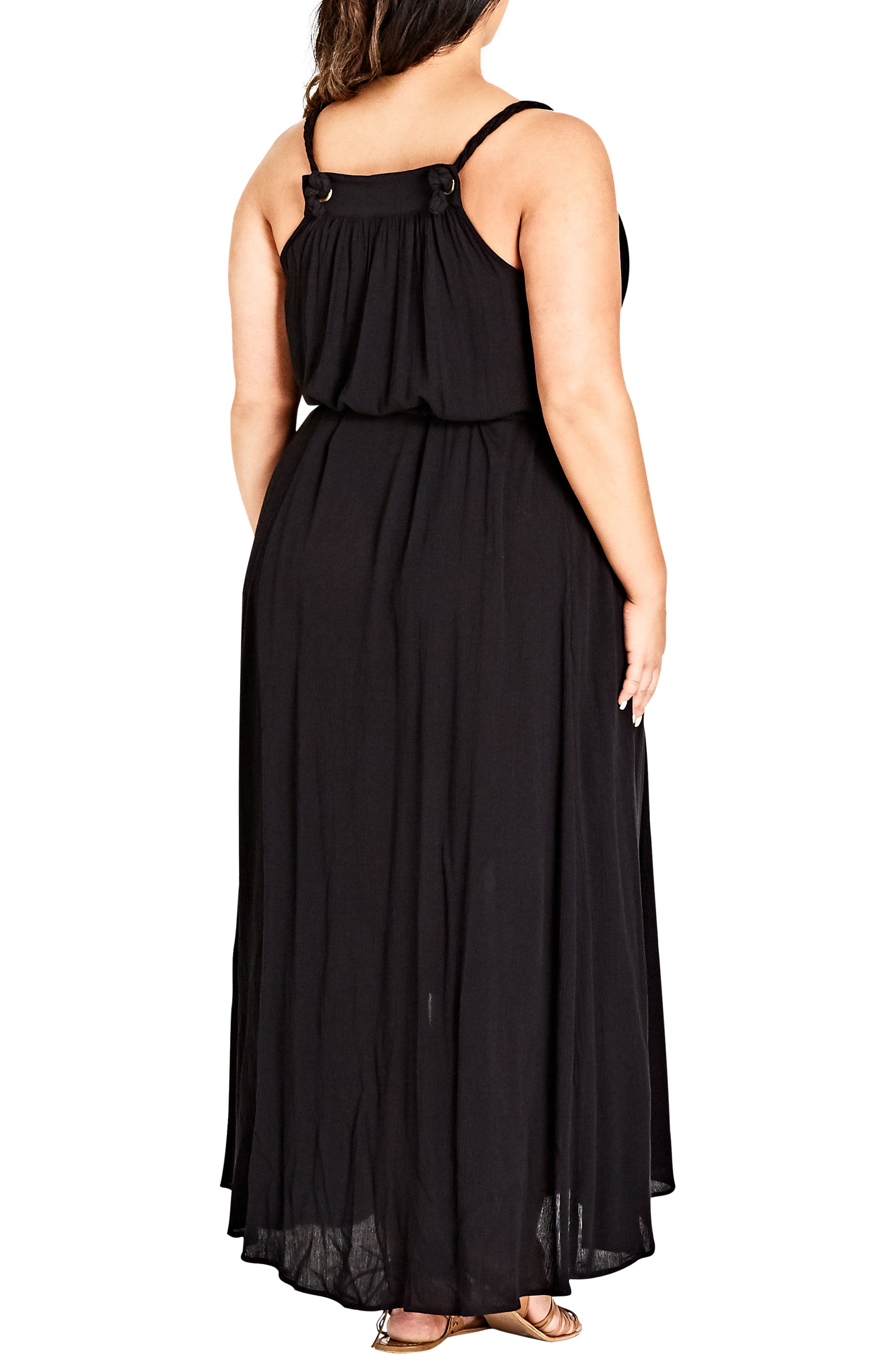 Happy Feels Maxi Dress,                             Alternate thumbnail 2, color,                             BLACK