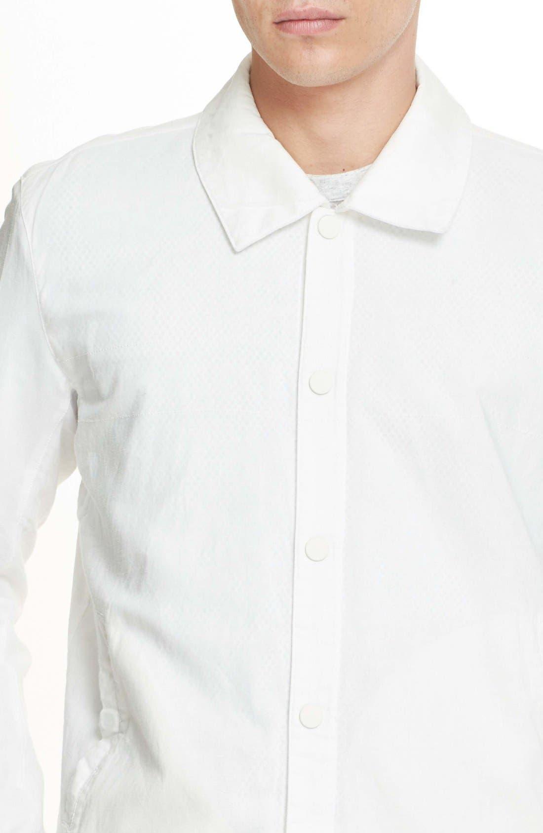 Cotton & Linen Coach Jacket,                             Alternate thumbnail 5, color,                             100