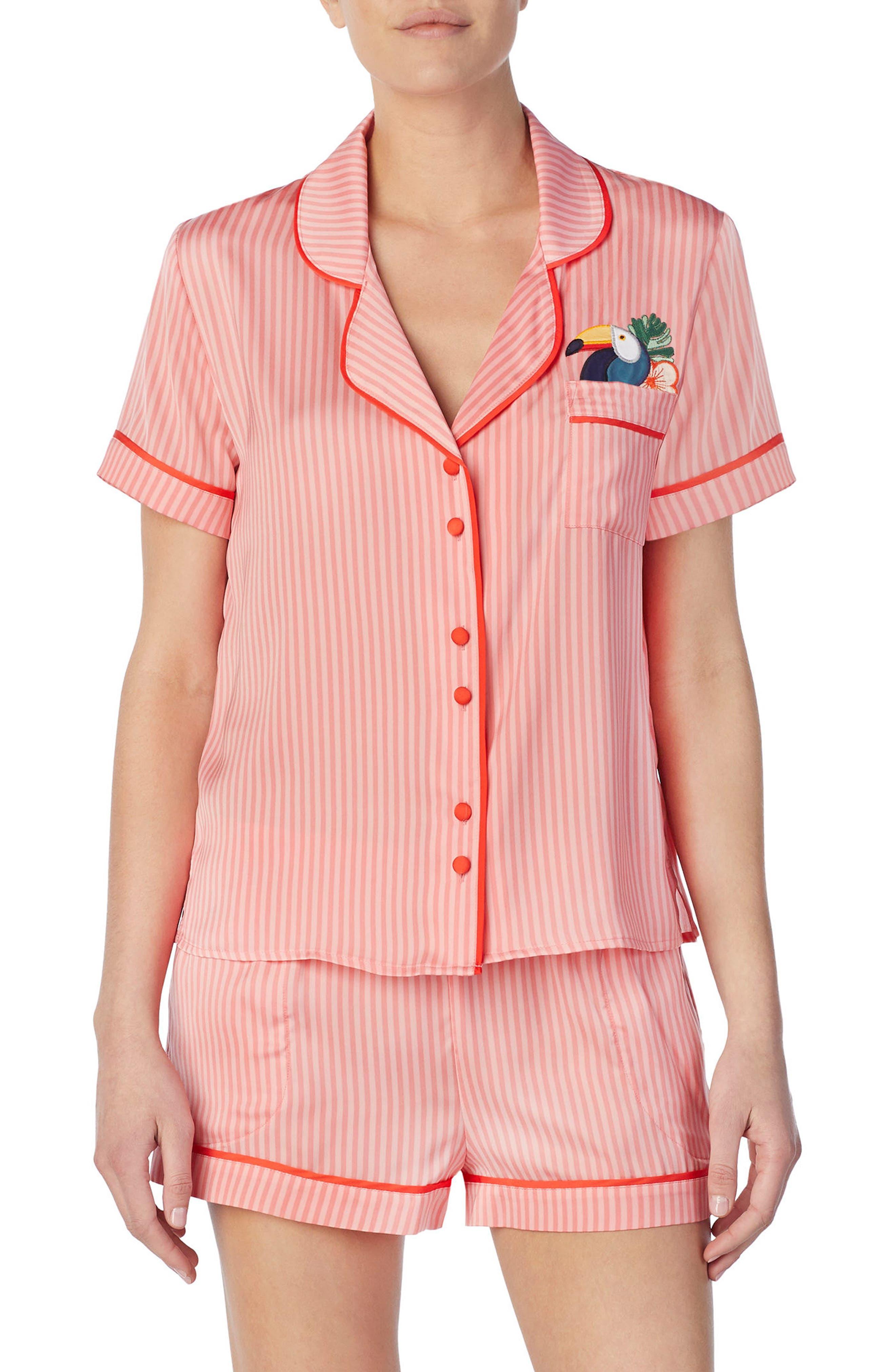 Short Satin Pajamas,                             Main thumbnail 3, color,