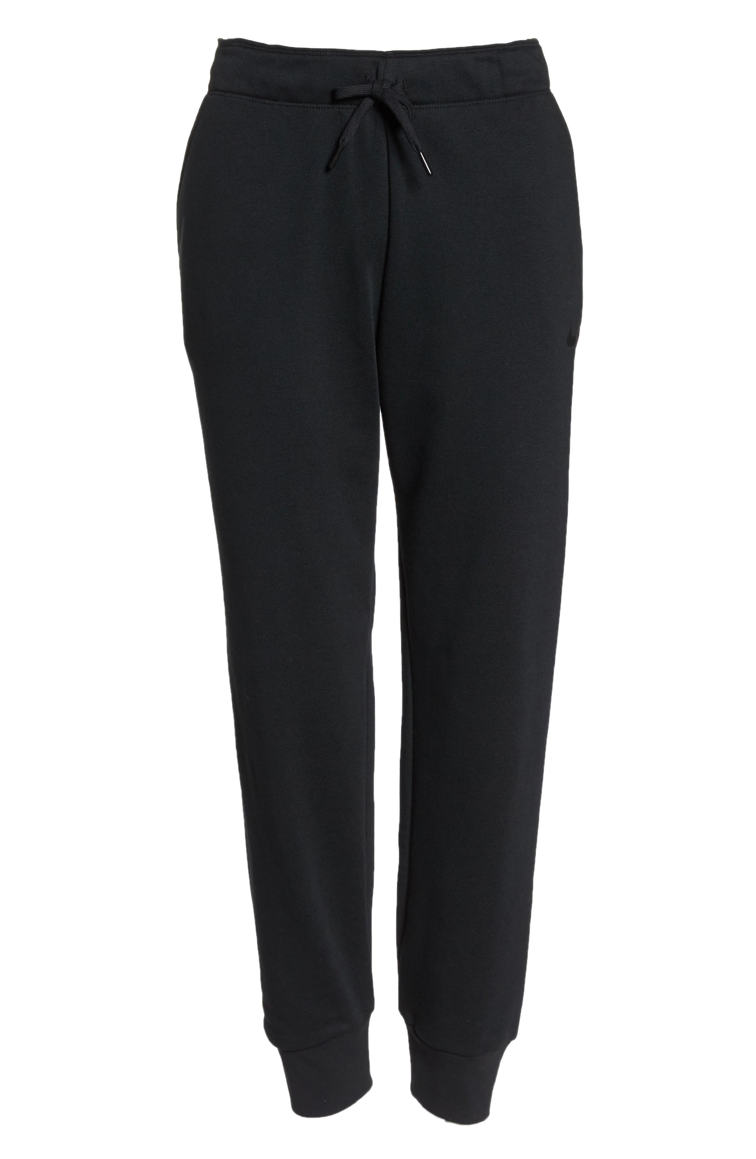 Tapered Training Pants,                             Alternate thumbnail 7, color,                             BLACK/ BLACK