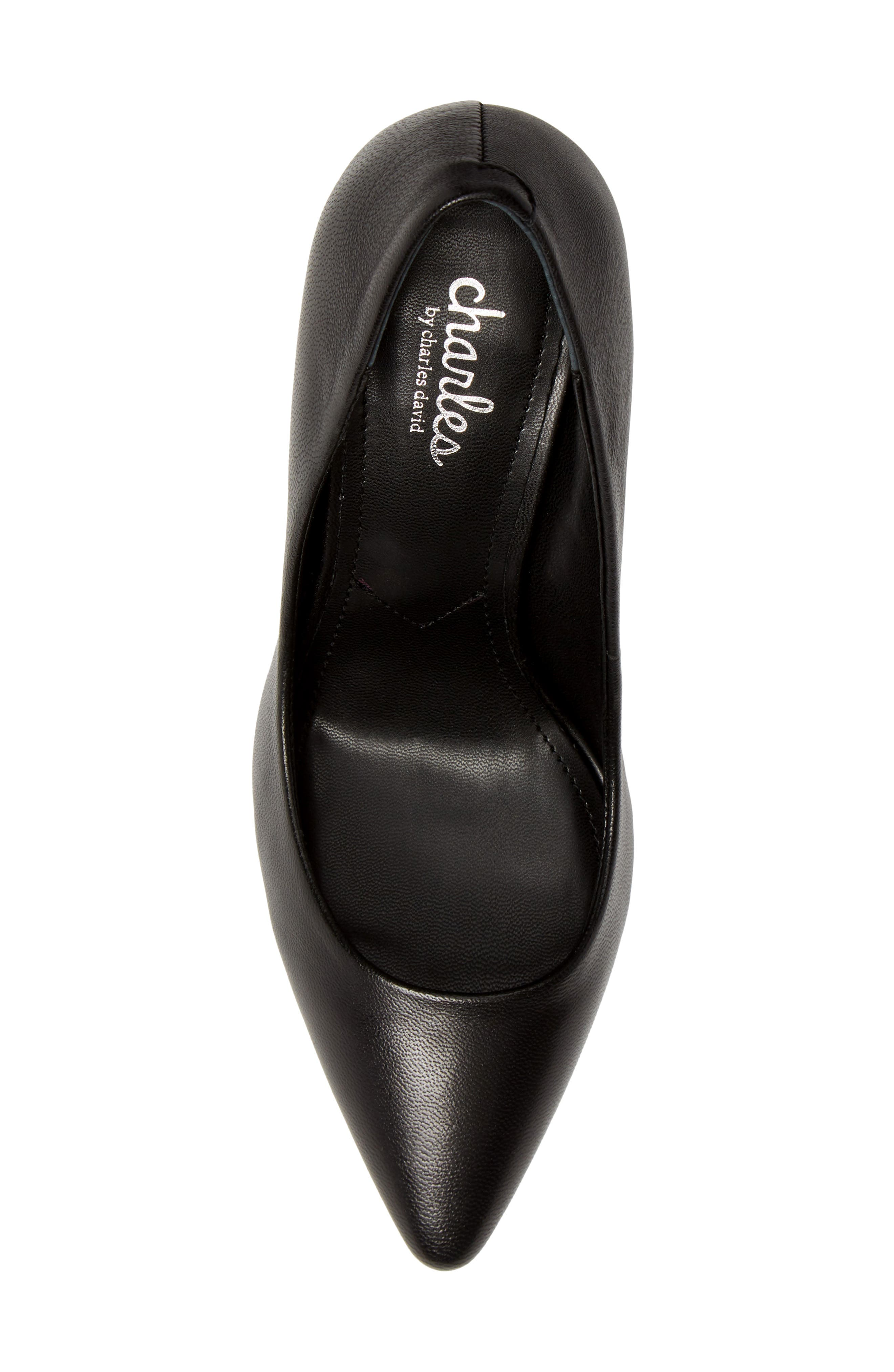 CHARLES BY CHARLES DAVID,                             Vicky Pump,                             Alternate thumbnail 5, color,                             BLACK LEATHER