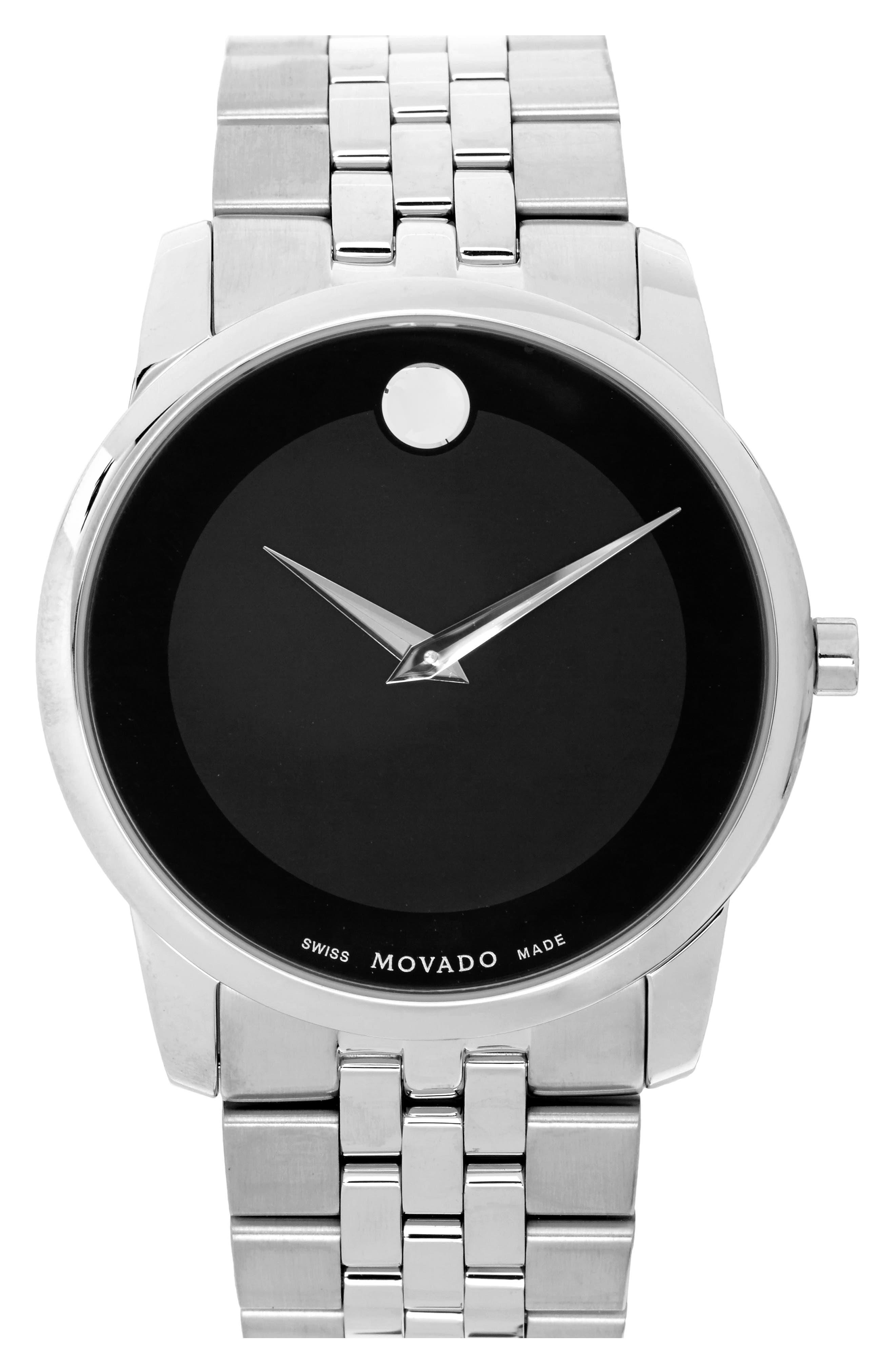 MOVADO 'Museum' Bracelet Watch, 40mm, Main, color, 040