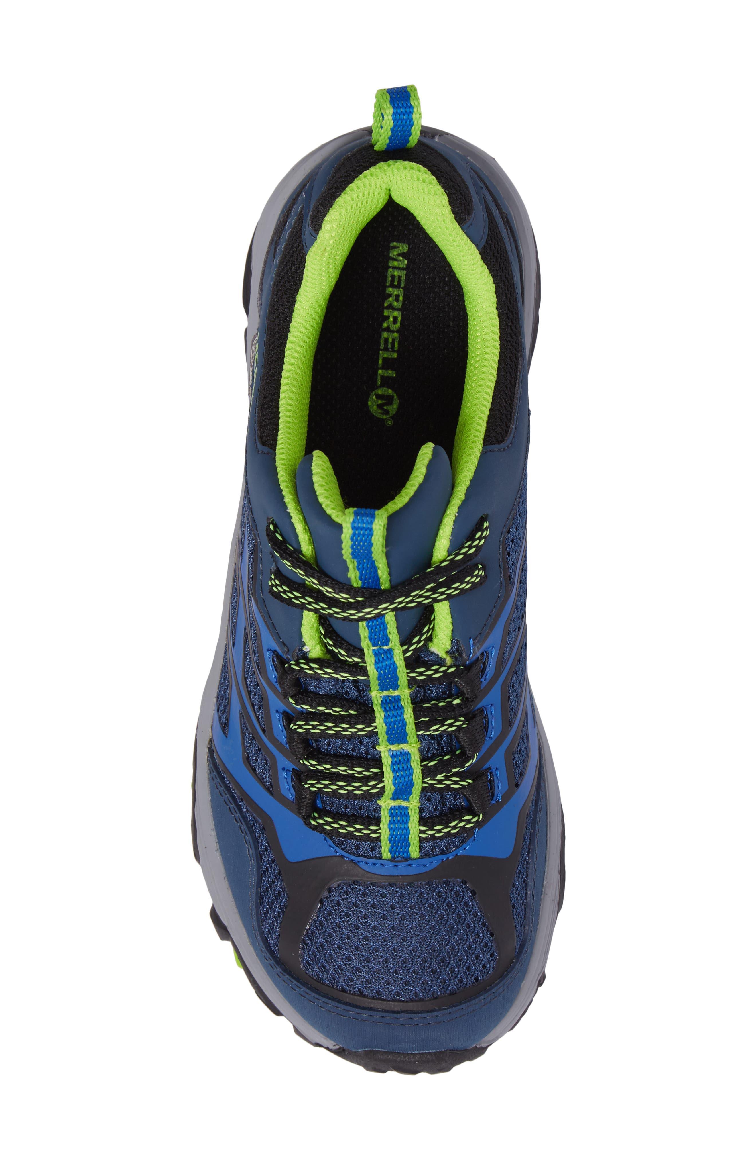 Moab FST Polar Low Waterproof Sneaker,                             Alternate thumbnail 5, color,                             NAVY/ BLUE