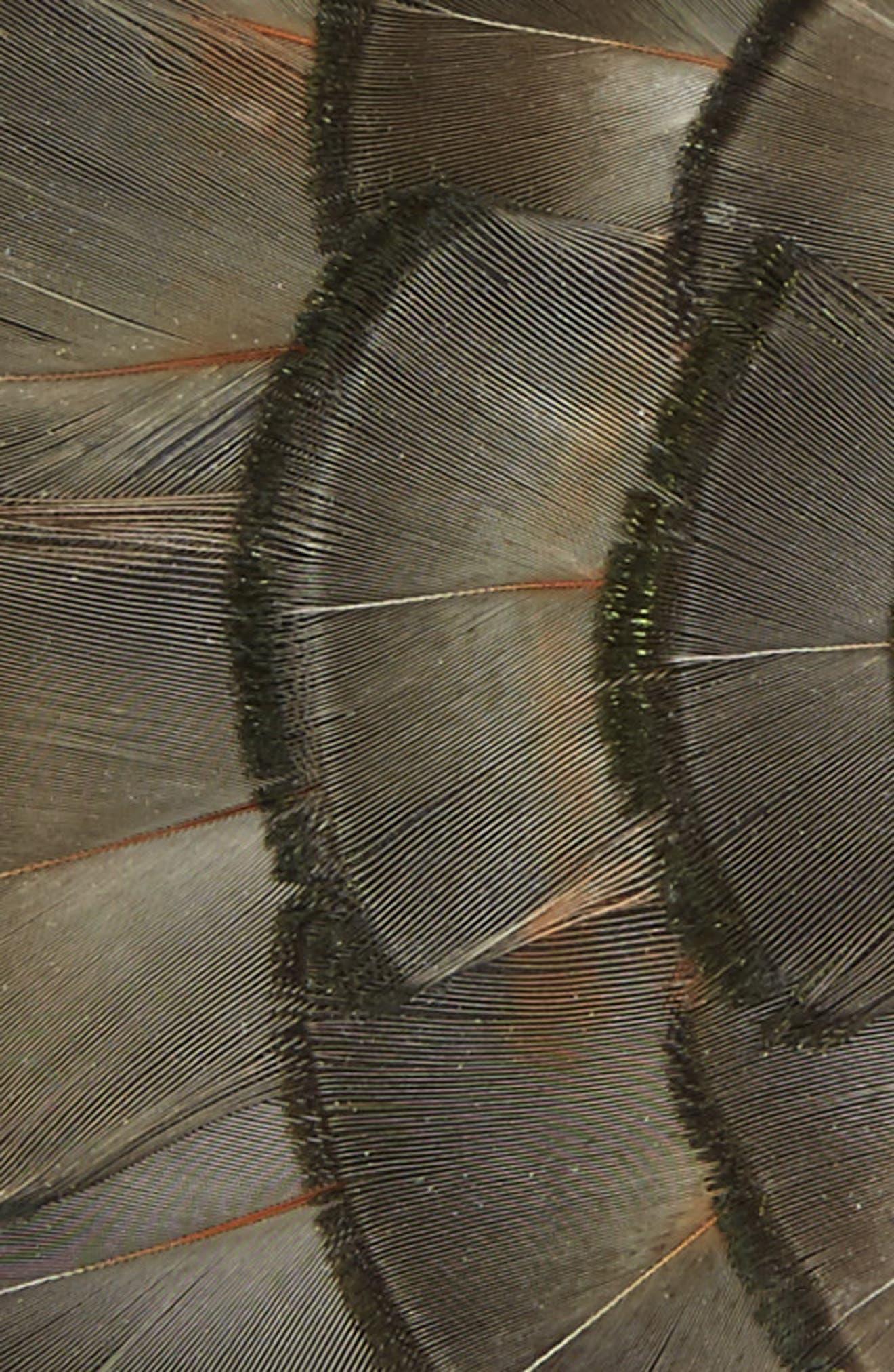 Lynx Feather Bow Tie,                             Alternate thumbnail 2, color,                             LYNX GREY