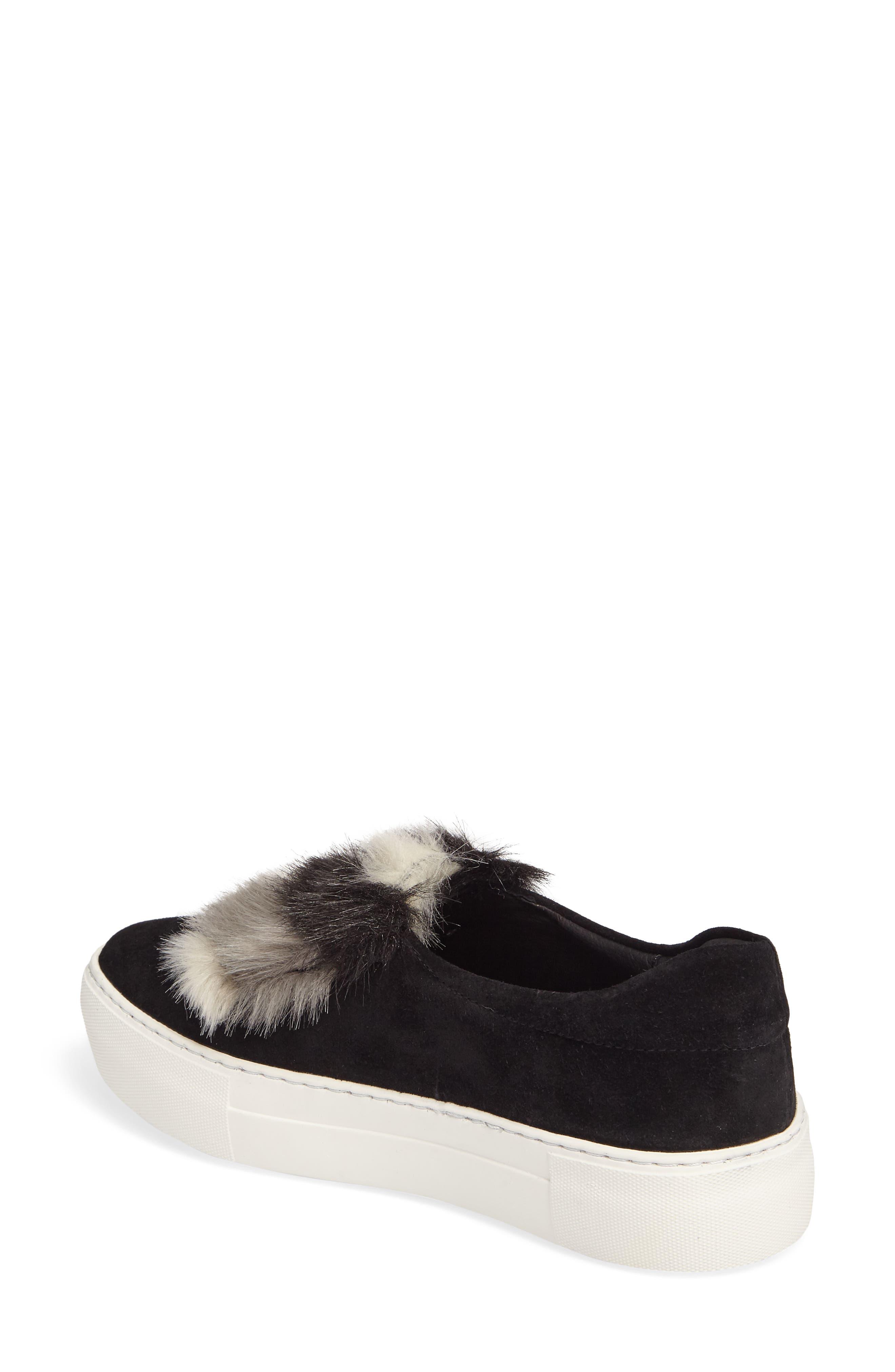 JSLIDES,                             Alexi Faux Fur Slip-On Sneaker,                             Alternate thumbnail 2, color,                             002
