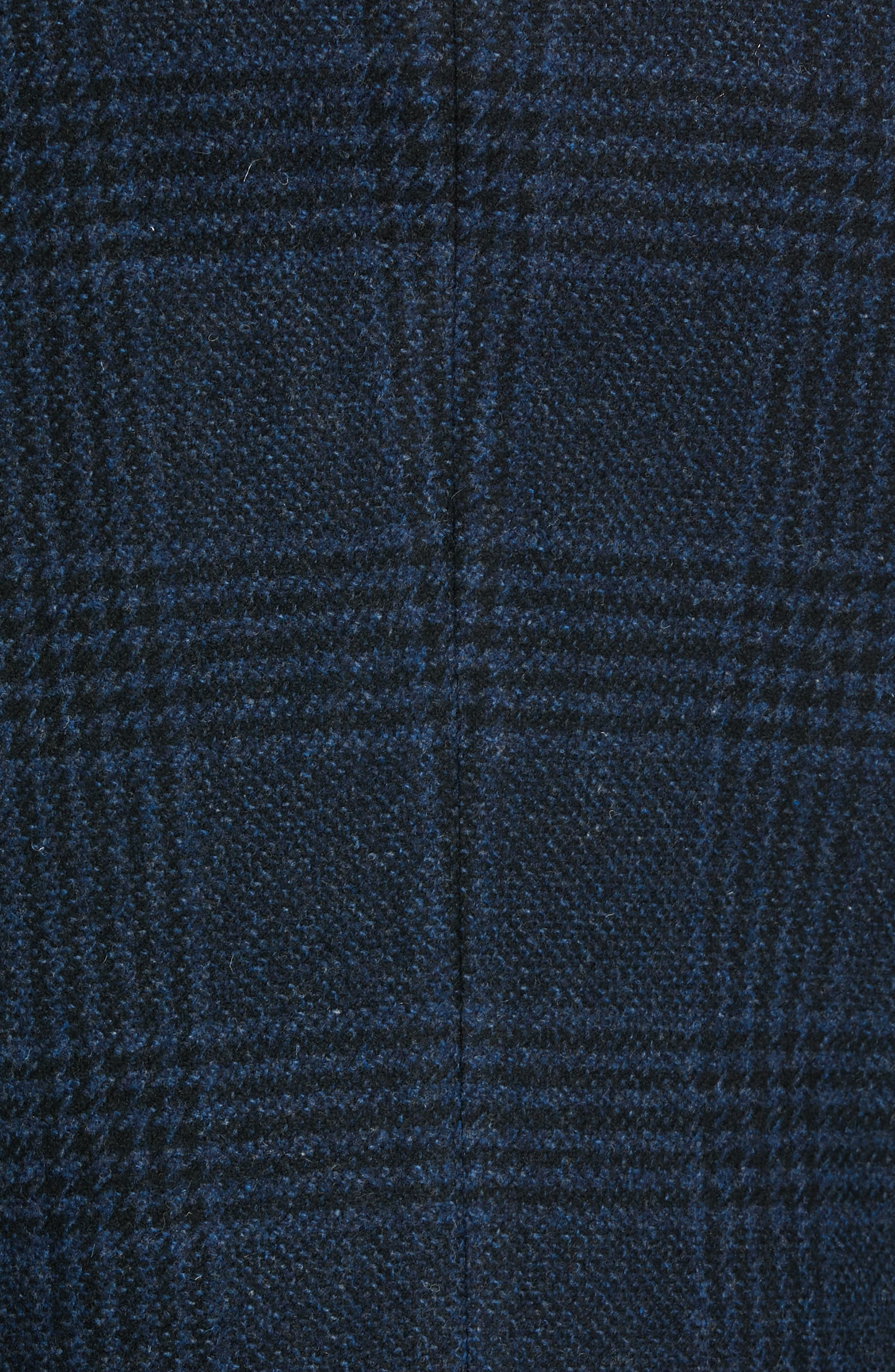 Jackson Extra Trim Fit Wool Overcoat,                             Alternate thumbnail 6, color,                             NAVY