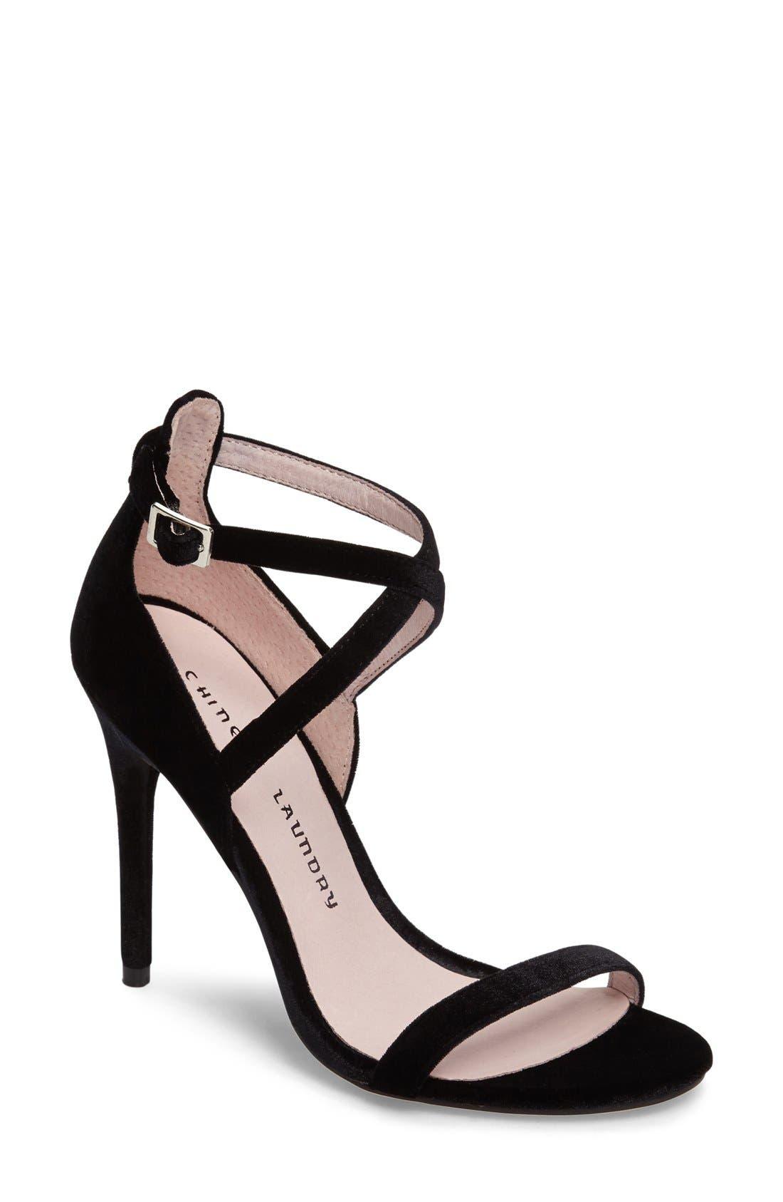 Lavelle Ankle Strap Sandal,                             Main thumbnail 1, color,                             001