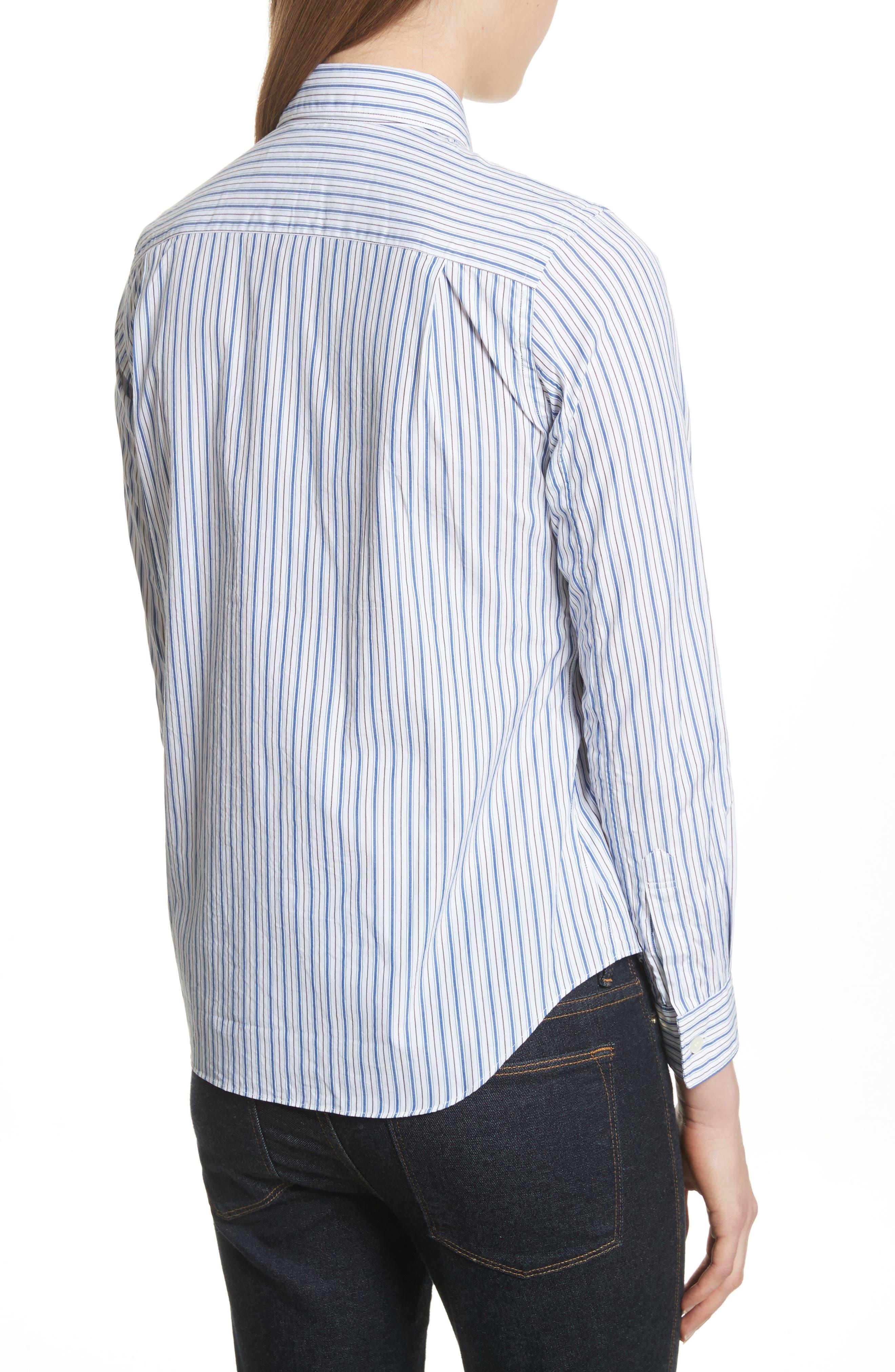 Stripe Shirt,                             Alternate thumbnail 2, color,                             BLUE
